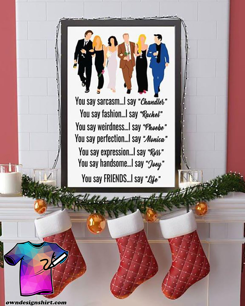 Friends tv show classic quote poster