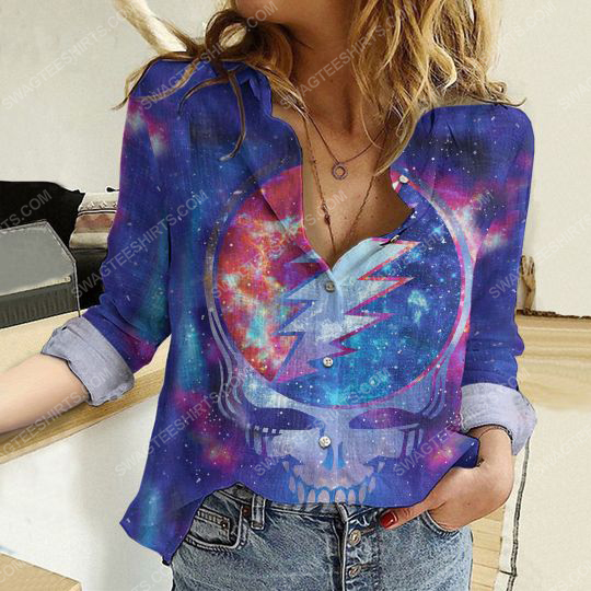 Galaxy grateful dead fully printed poly cotton casual shirt 2(1) - Copy