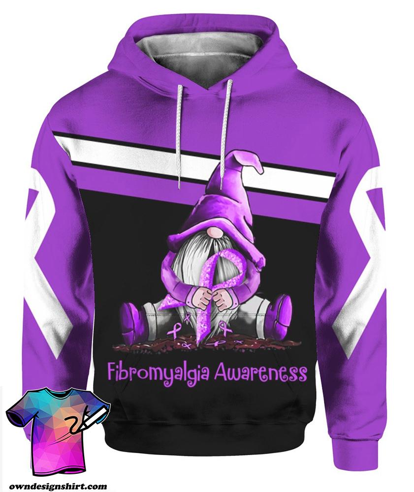 Gnome fibromyalgia awareness full printing shirt