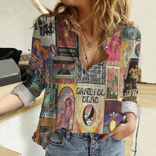Grateful dead album covers fully printed poly cotton casual shirt 2(1) - Copy