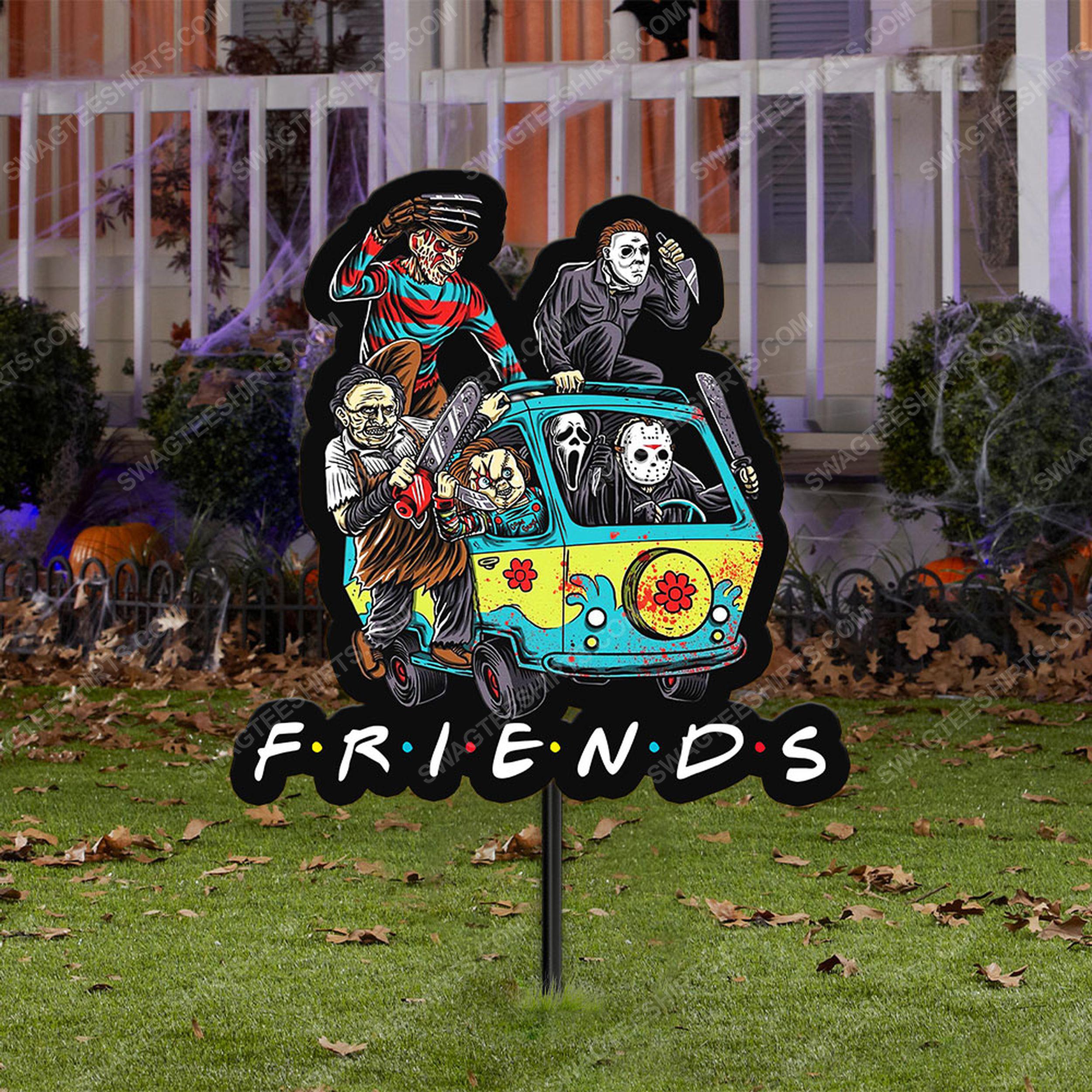 Halloween horror movie villains friends yard sign 2(1)