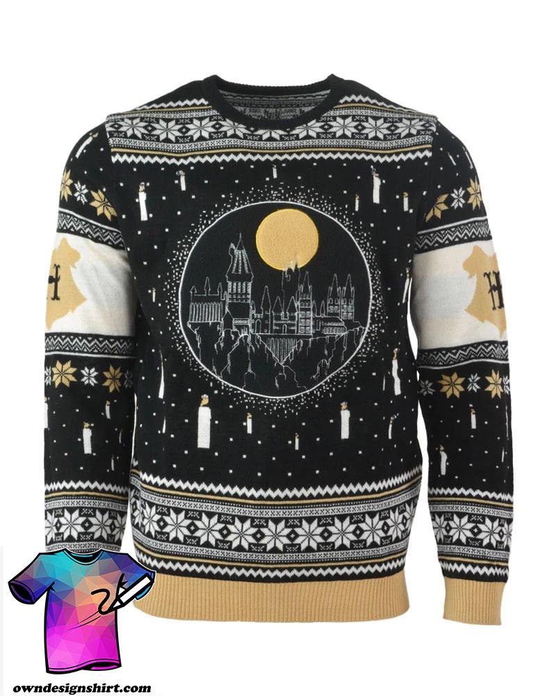 Harry potter hogwarts castle full printing ugly christmas sweater