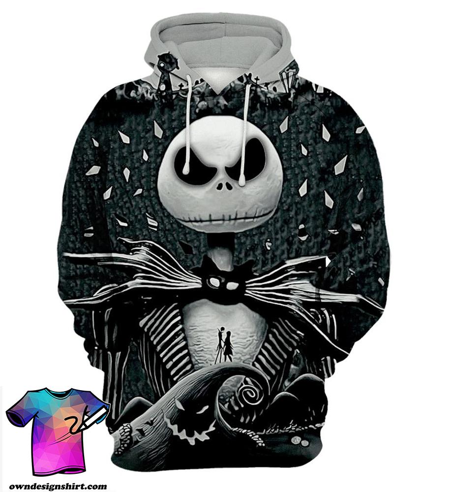 Jack skellington 3d all over printed hoodie