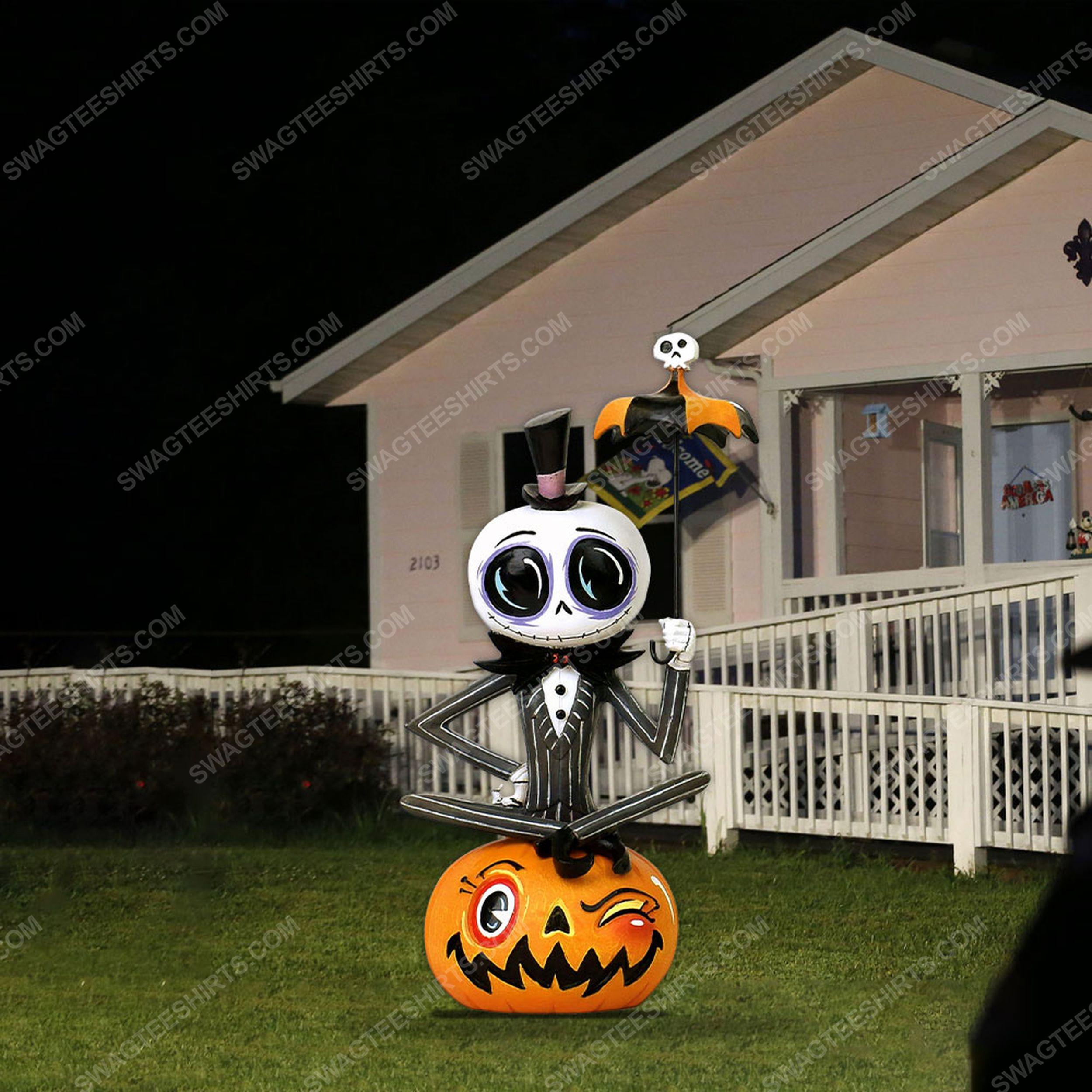 Jack skellington and pumpkin halloween yard sign 2(1)