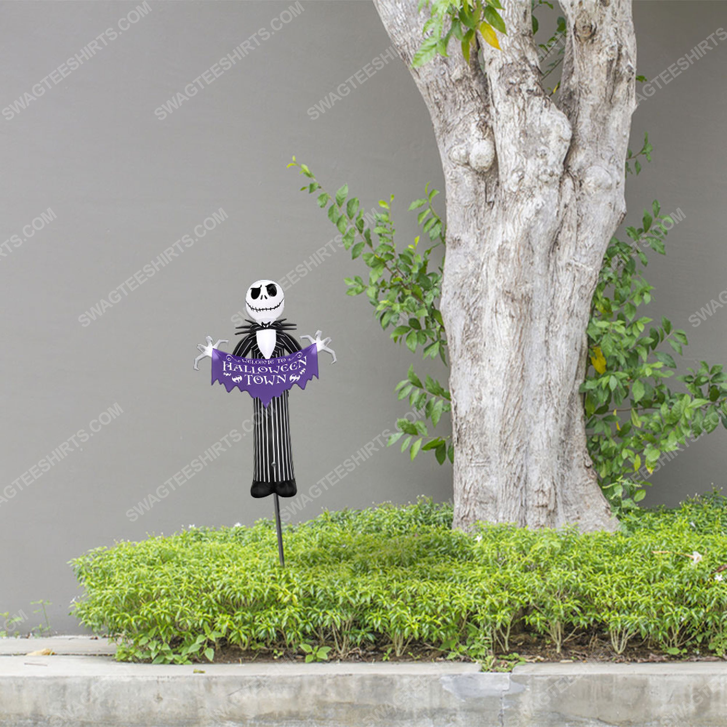 Jack skellington welcome to halloween town yard sign 2(1)