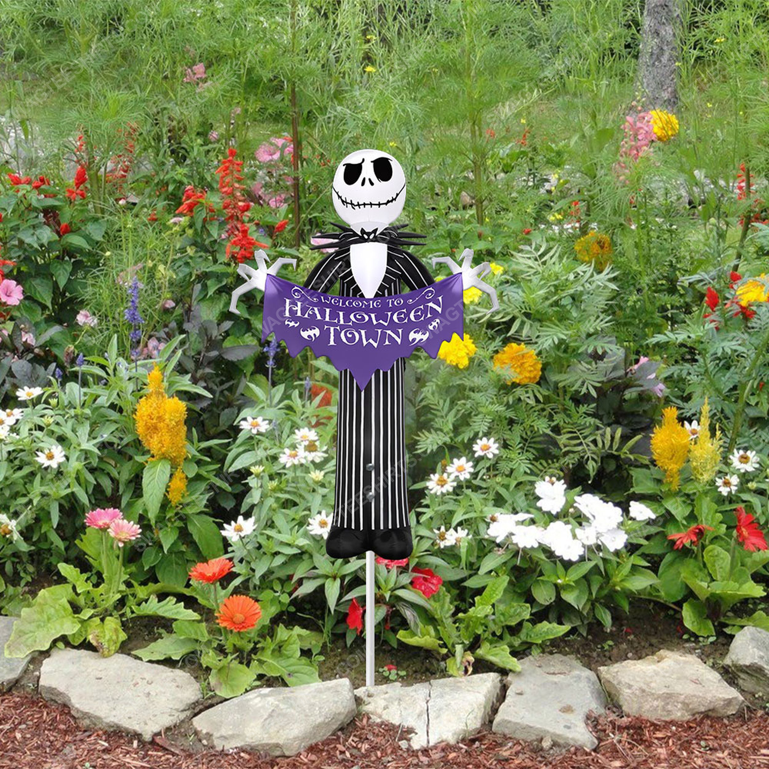 Jack skellington welcome to halloween town yard sign 3(1)