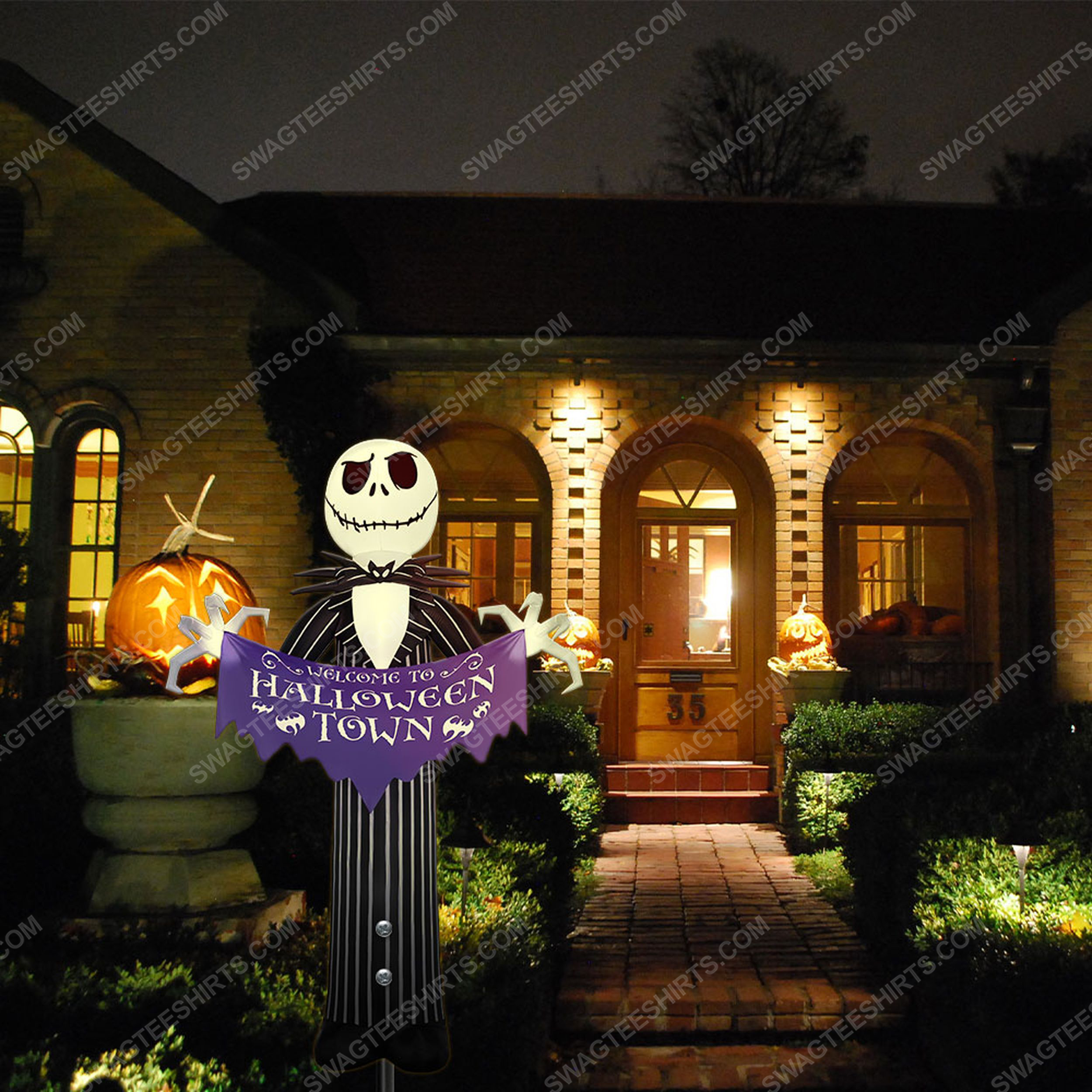 Jack skellington welcome to halloween town yard sign 4(1)