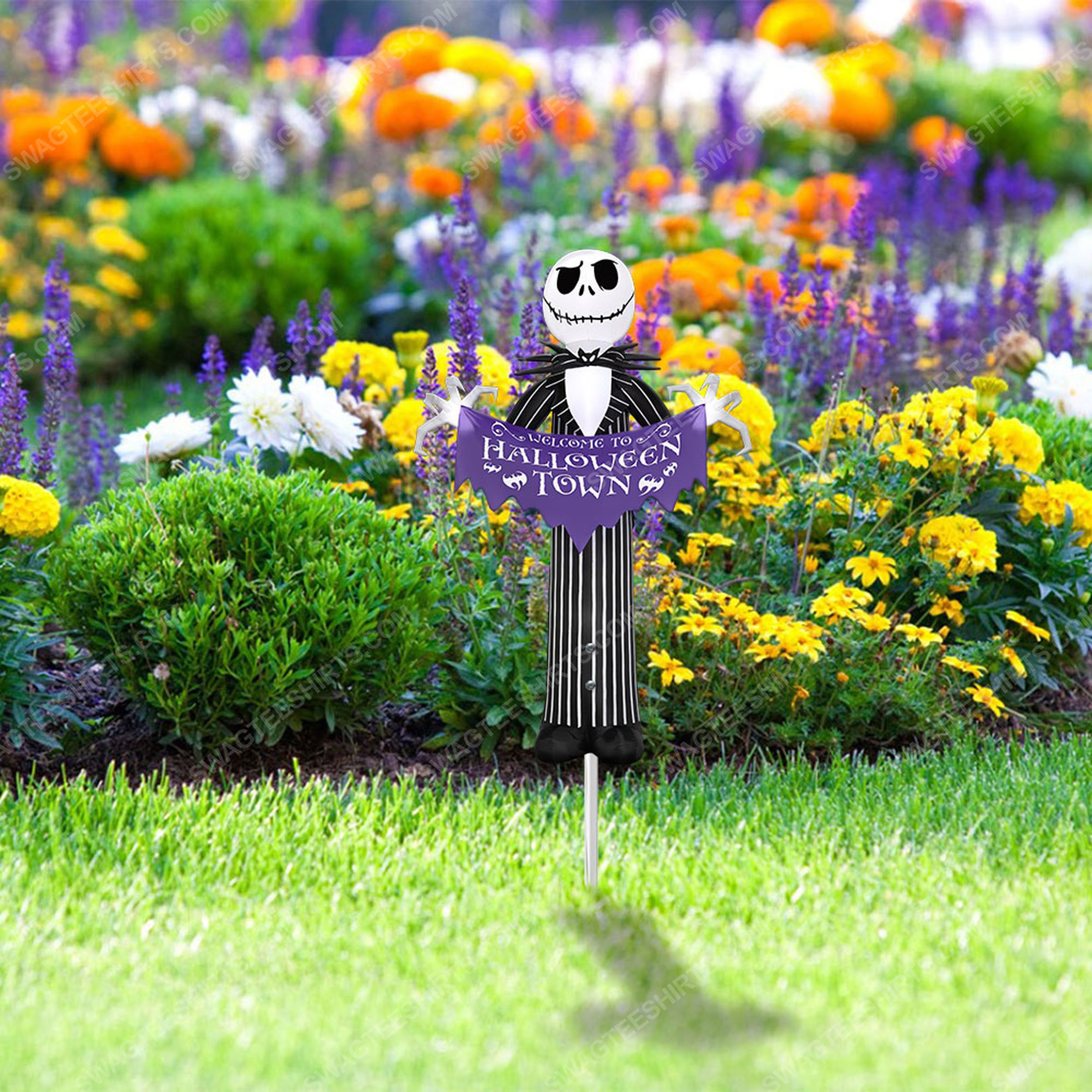 Jack skellington welcome to halloween town yard sign 5(1)