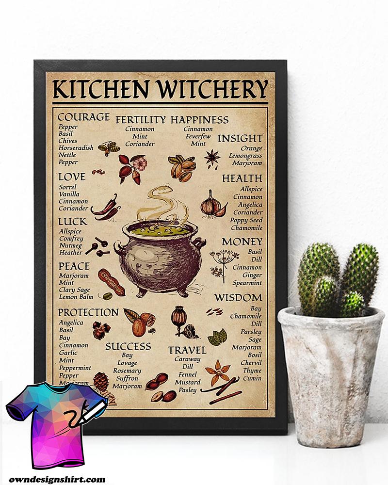 Kitchen witchery witchcraft knowledge poster