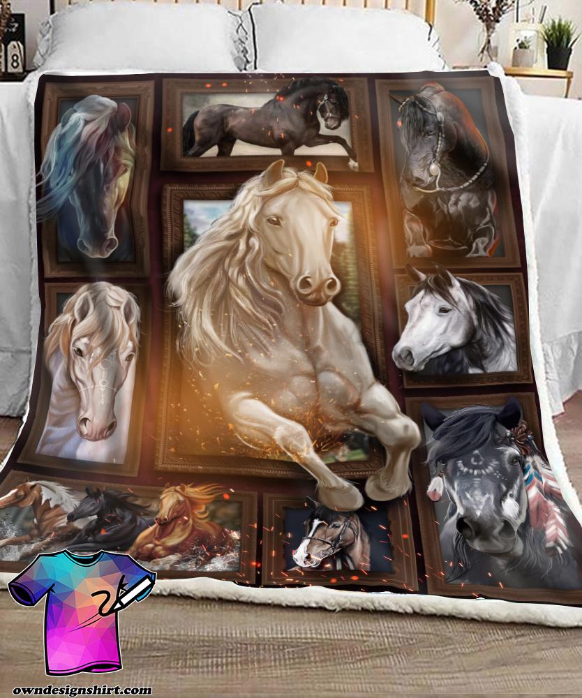 Love horse full printing blanket