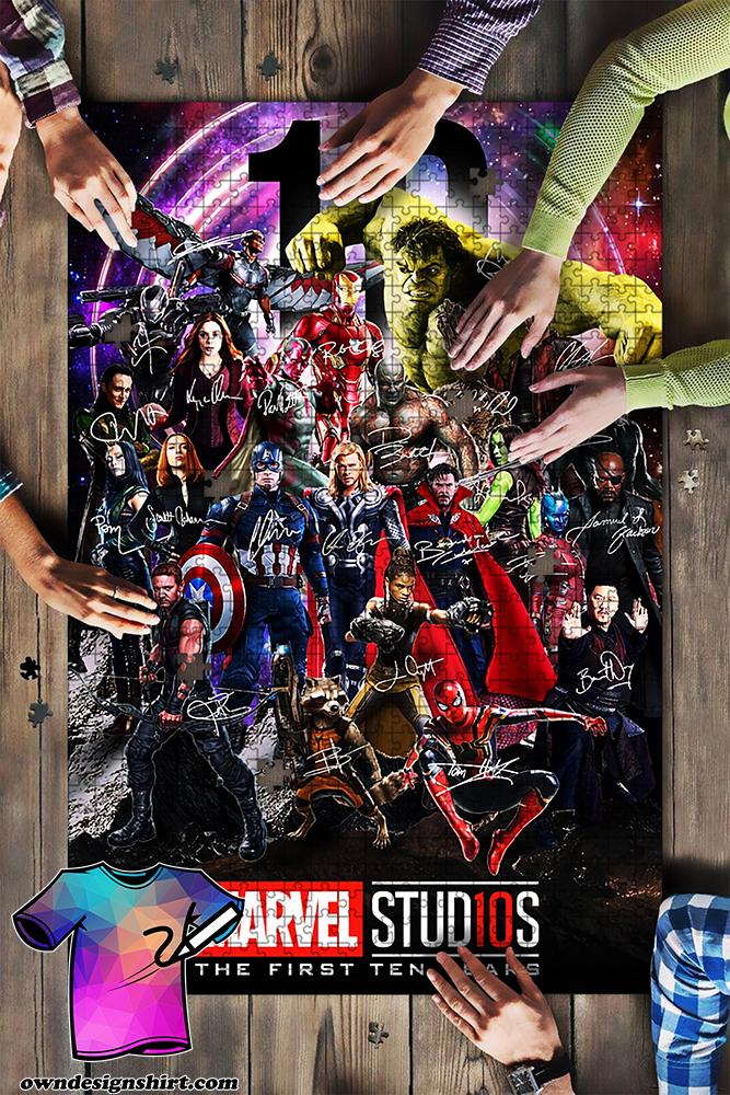 Marvel studios character signatures jigsaw puzzle
