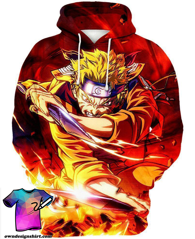 Naruto the seventh hokage all over print shirt