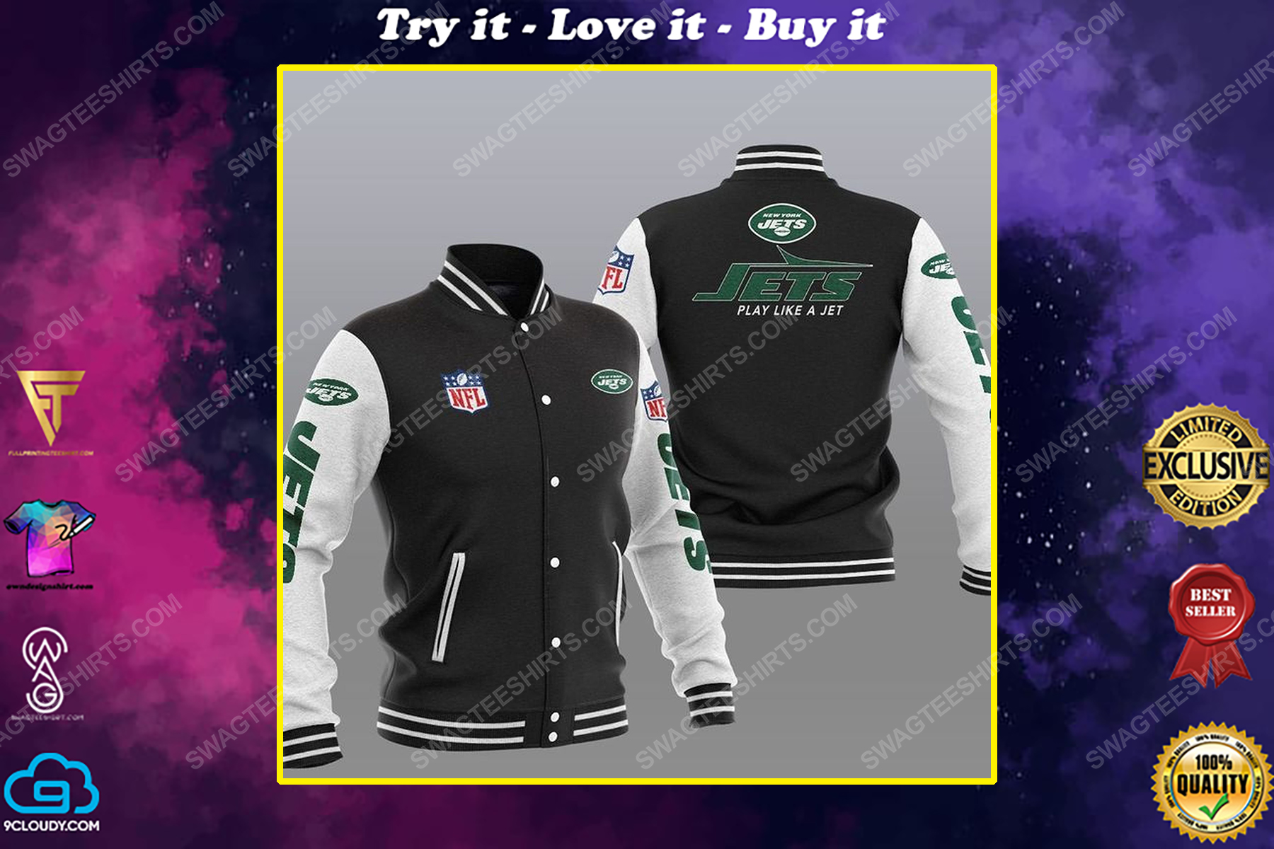 New york jets play like a jet all over print shirt