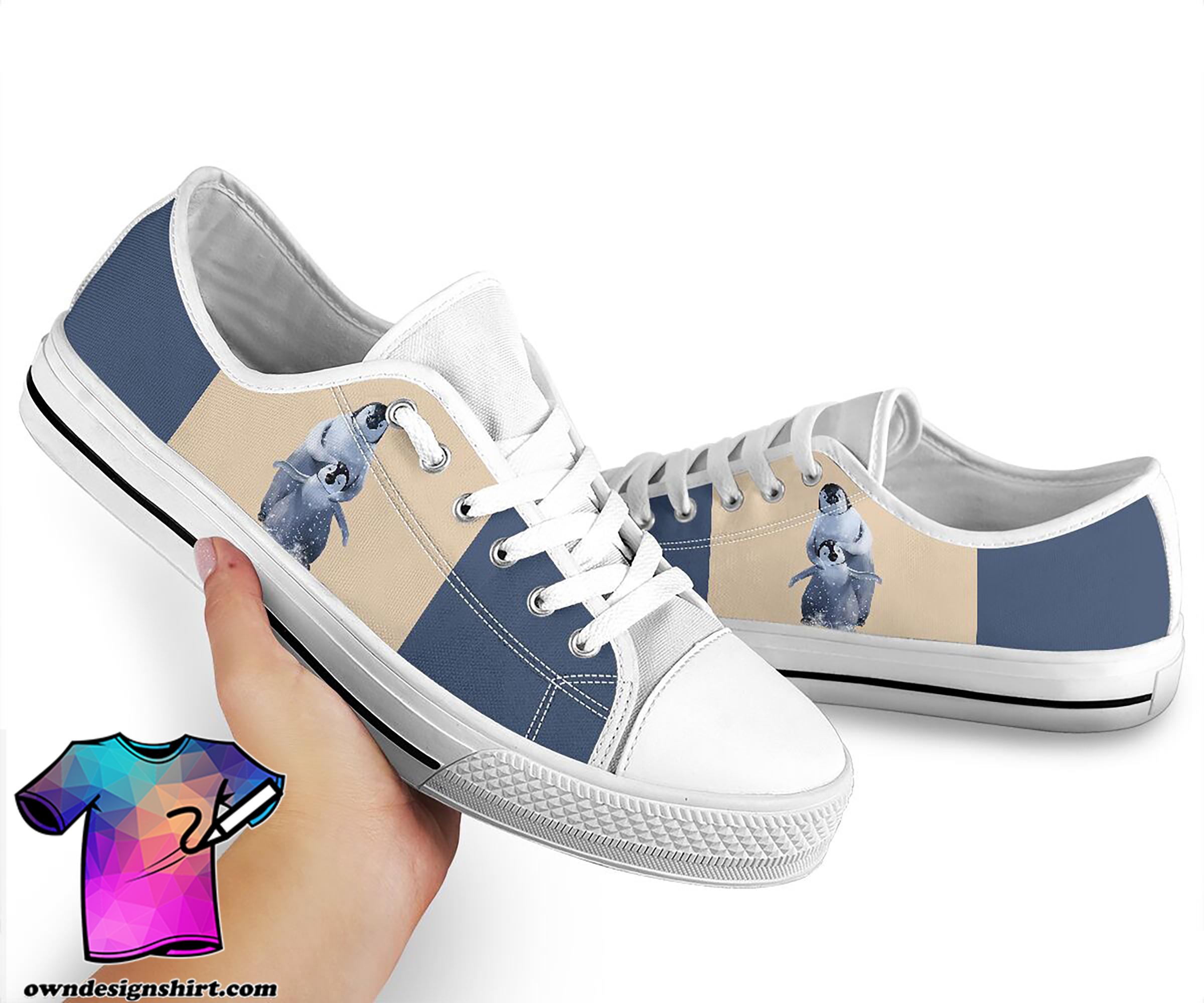 Penguin low top canvas sneakers