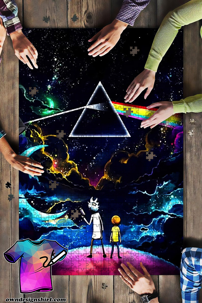 Pink floyd the dark side of the moon rick and morty jigsaw puzzle