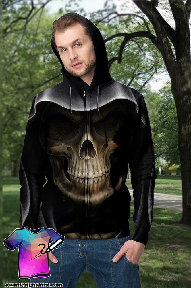 Skull death full printing shirt