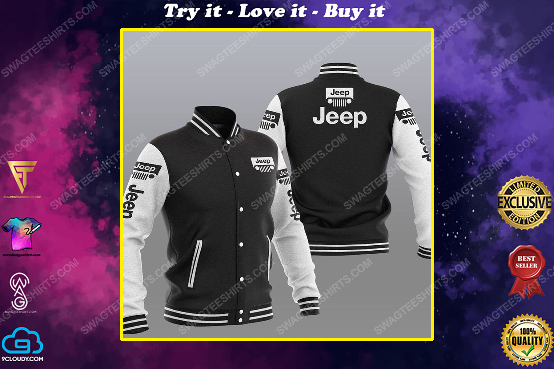 The jeep car symbol all over print shirt