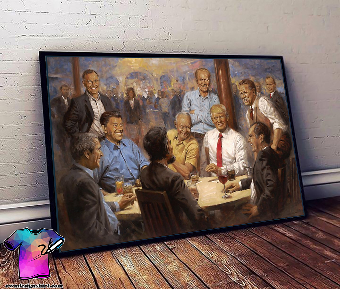The meeting of leaders trump 2020 keep america great again poster