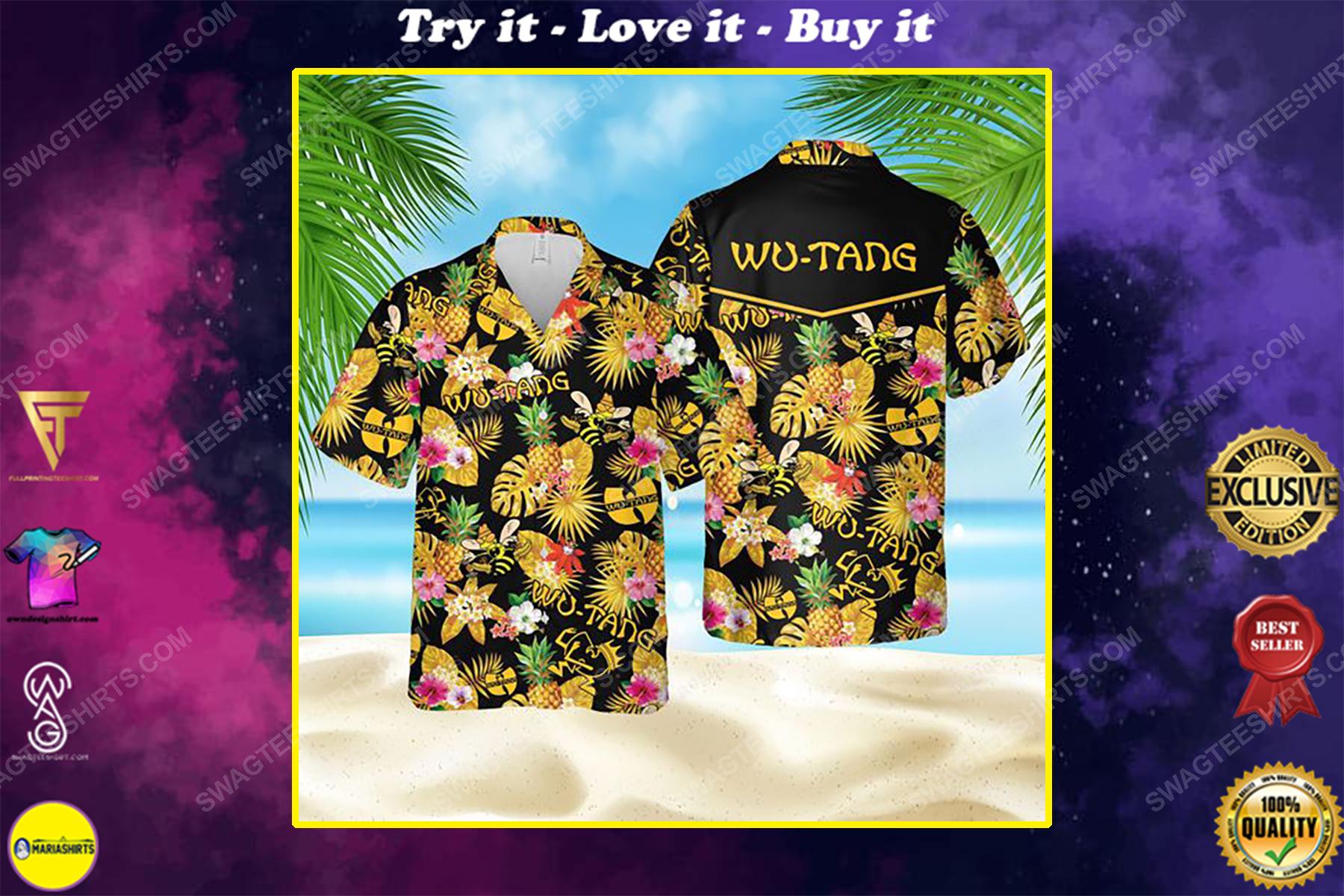Tropical american hip hop wu tang clan summer party hawaiian shirt