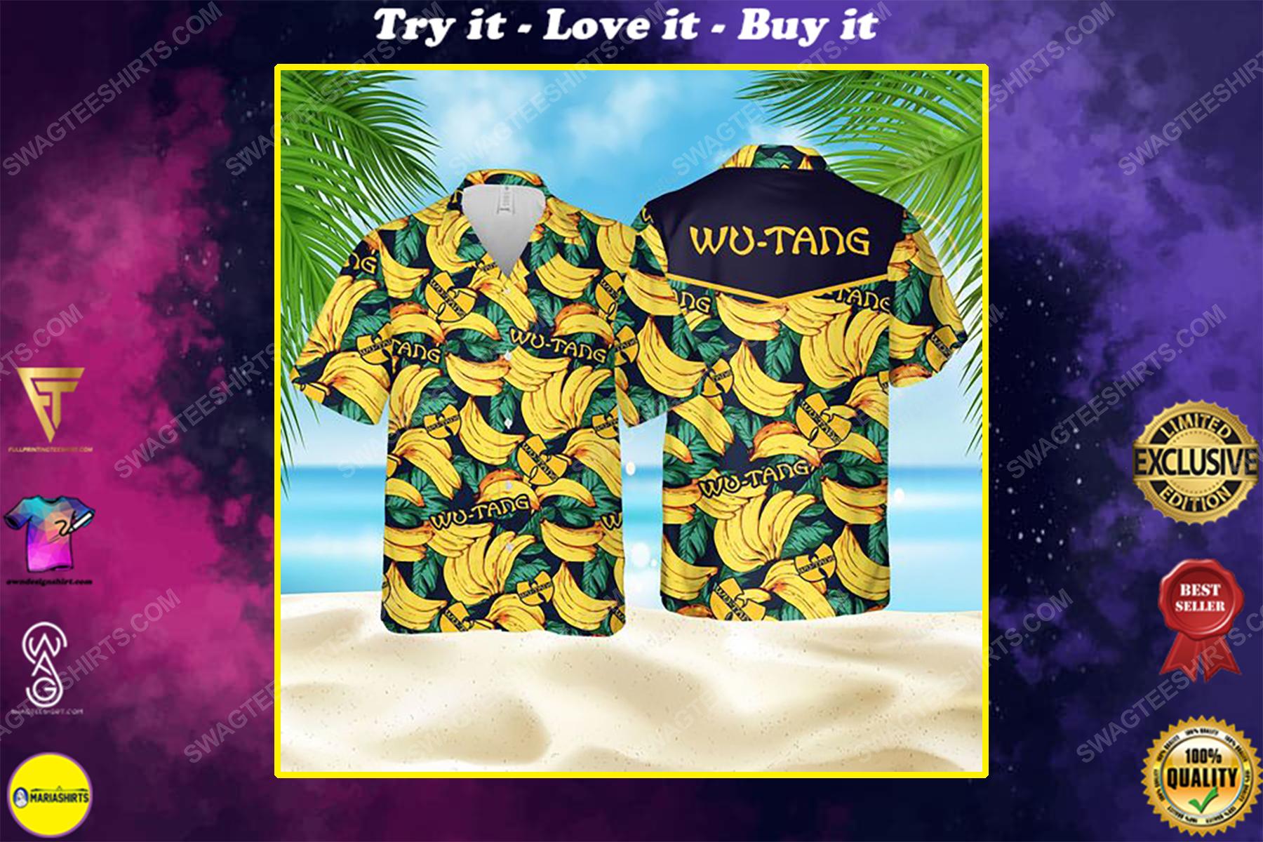 Tropical banana wu tang clan summer party hawaiian shirt