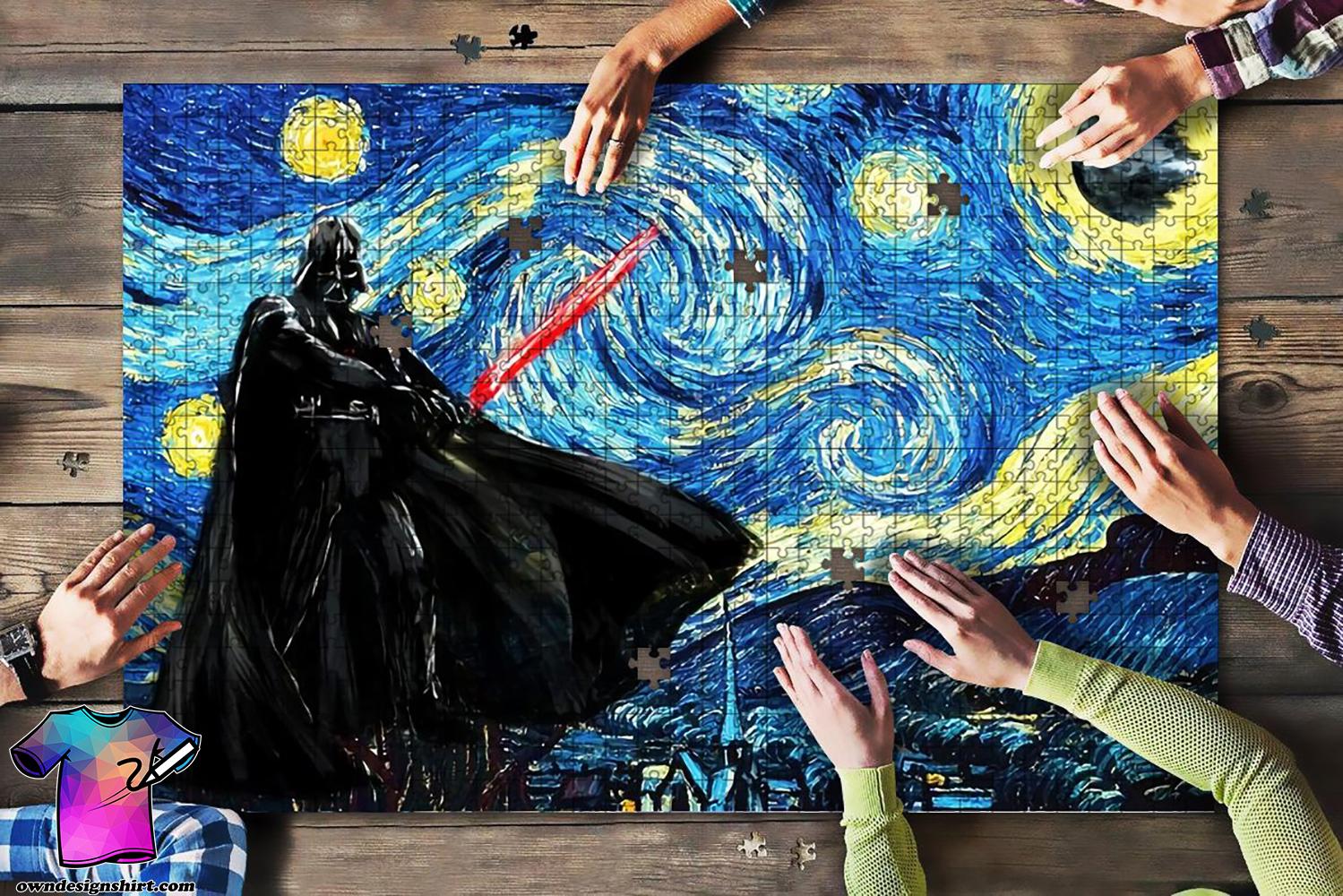 Vincent van gogh starry night darth vader star wars jigsaw puzzle