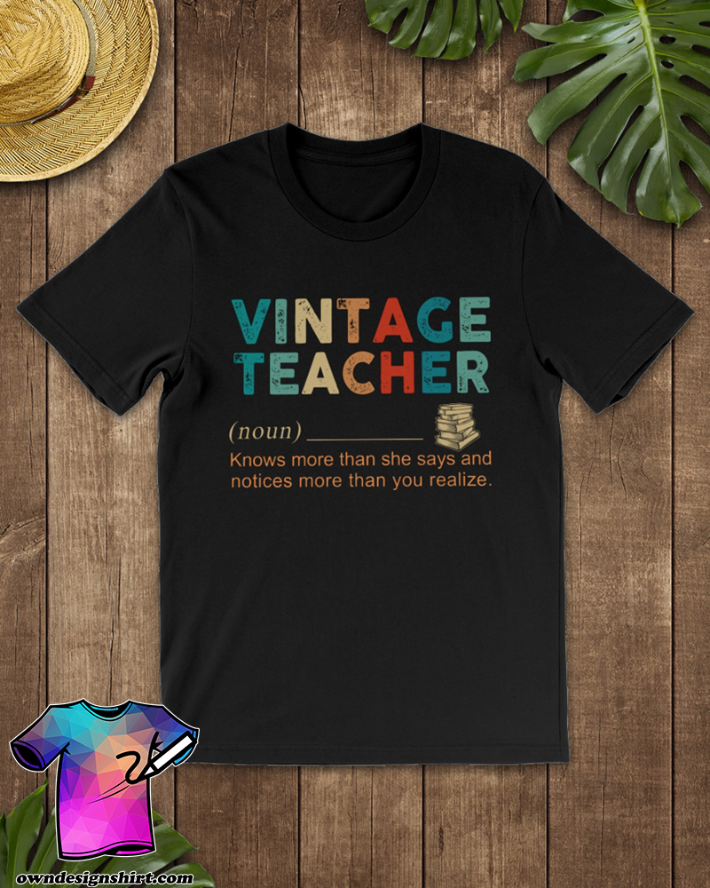 Vintage teacher definition shirt
