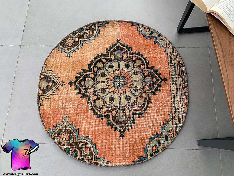 Vintage turkish round carpet