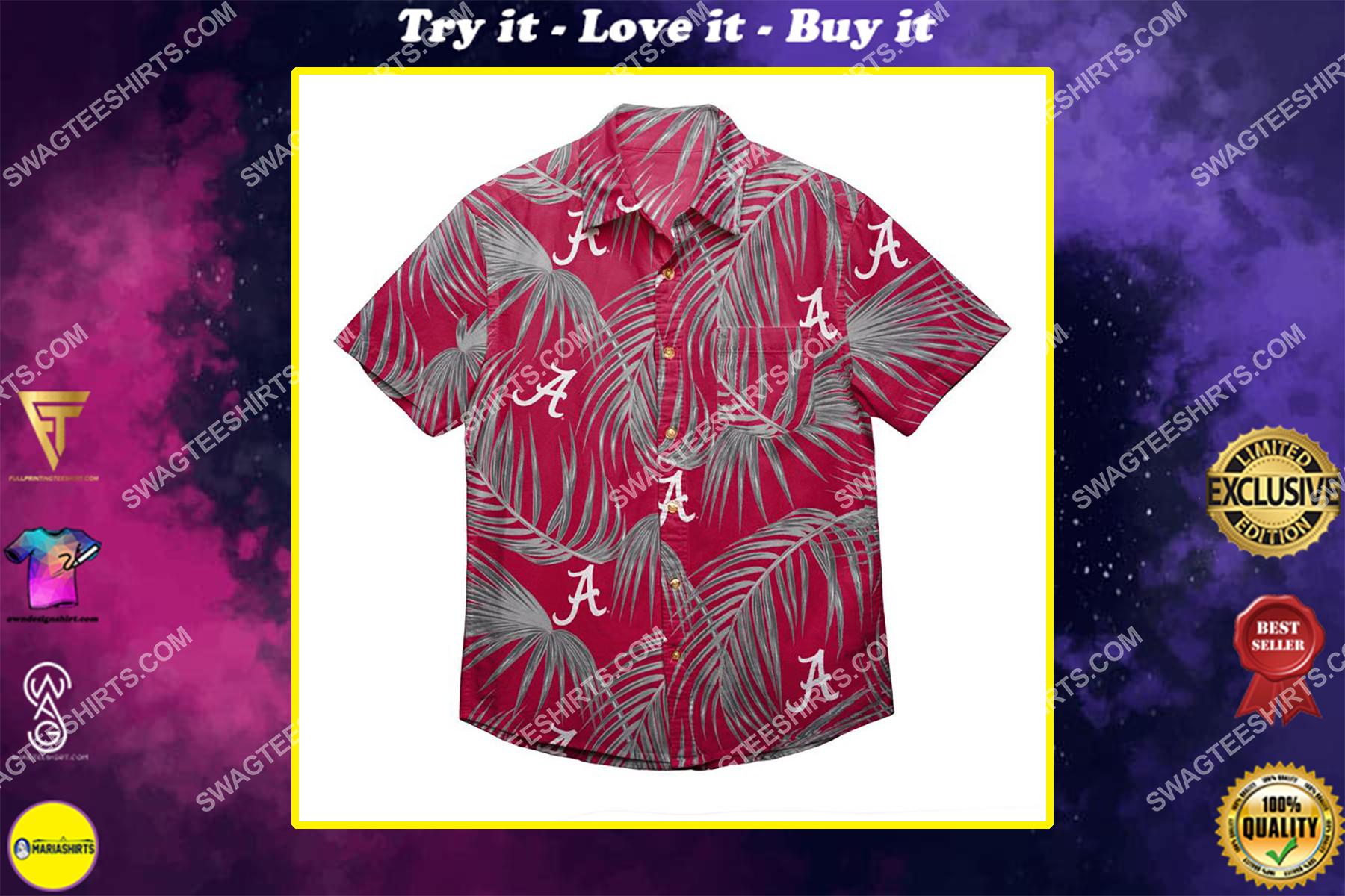 alabama crimson tide football tropical full print hawaiian shirt