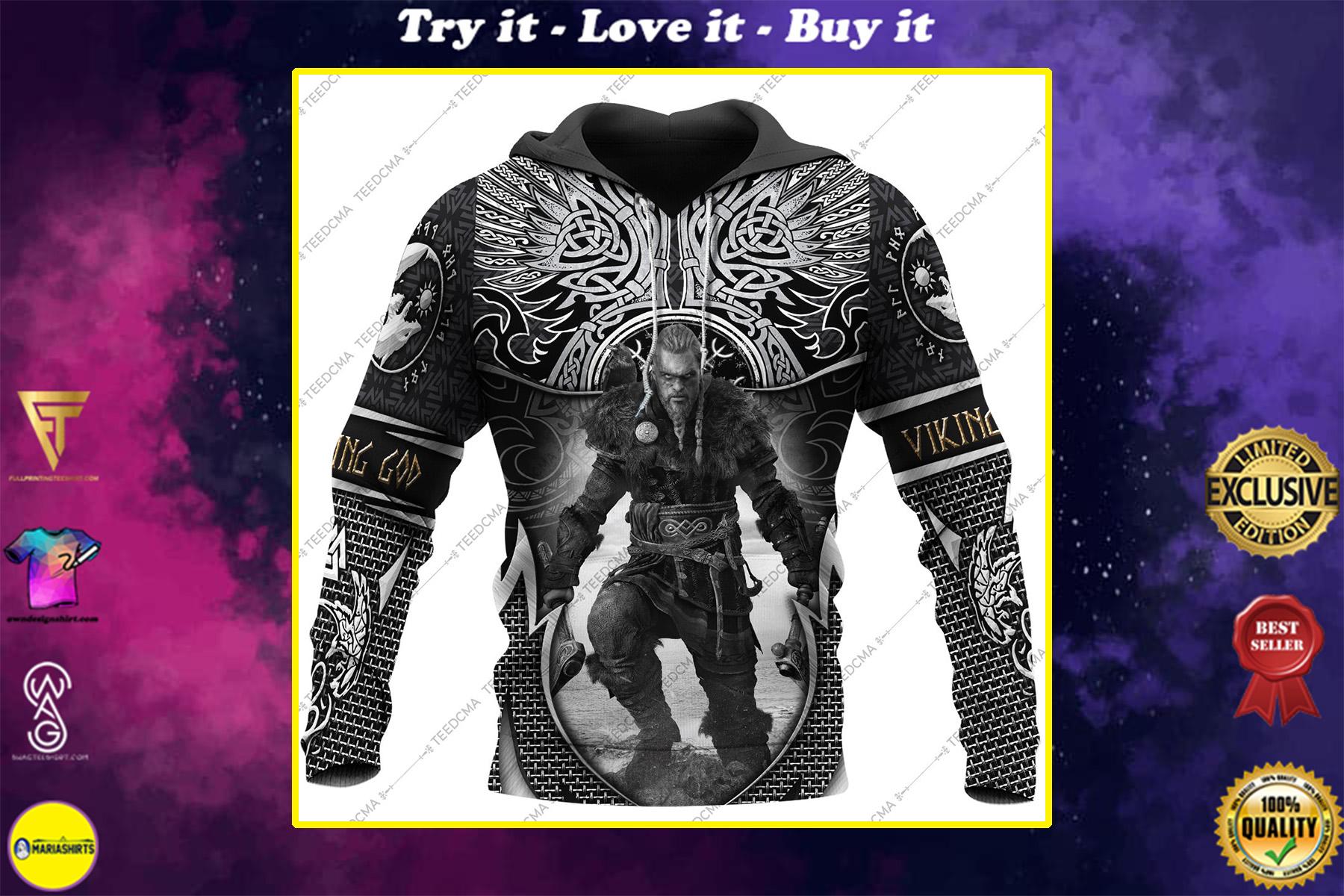 assassin's creed valhalla viking all over printed shirt