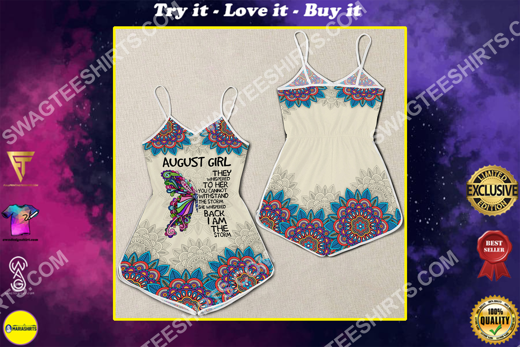 august girl they whispered to her you cannot withstand the storm rompers