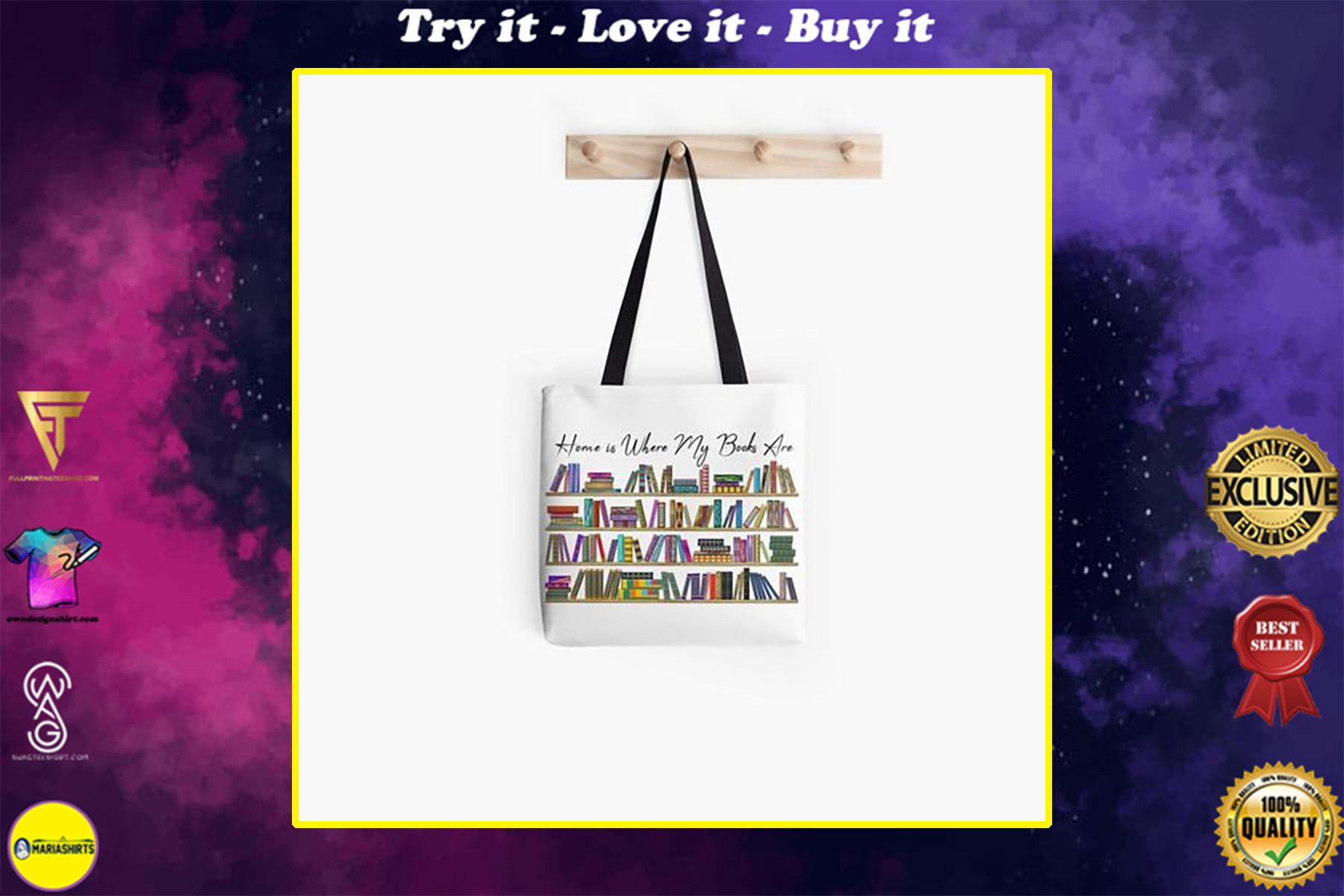 book lovers reading home is where my books are tote bag