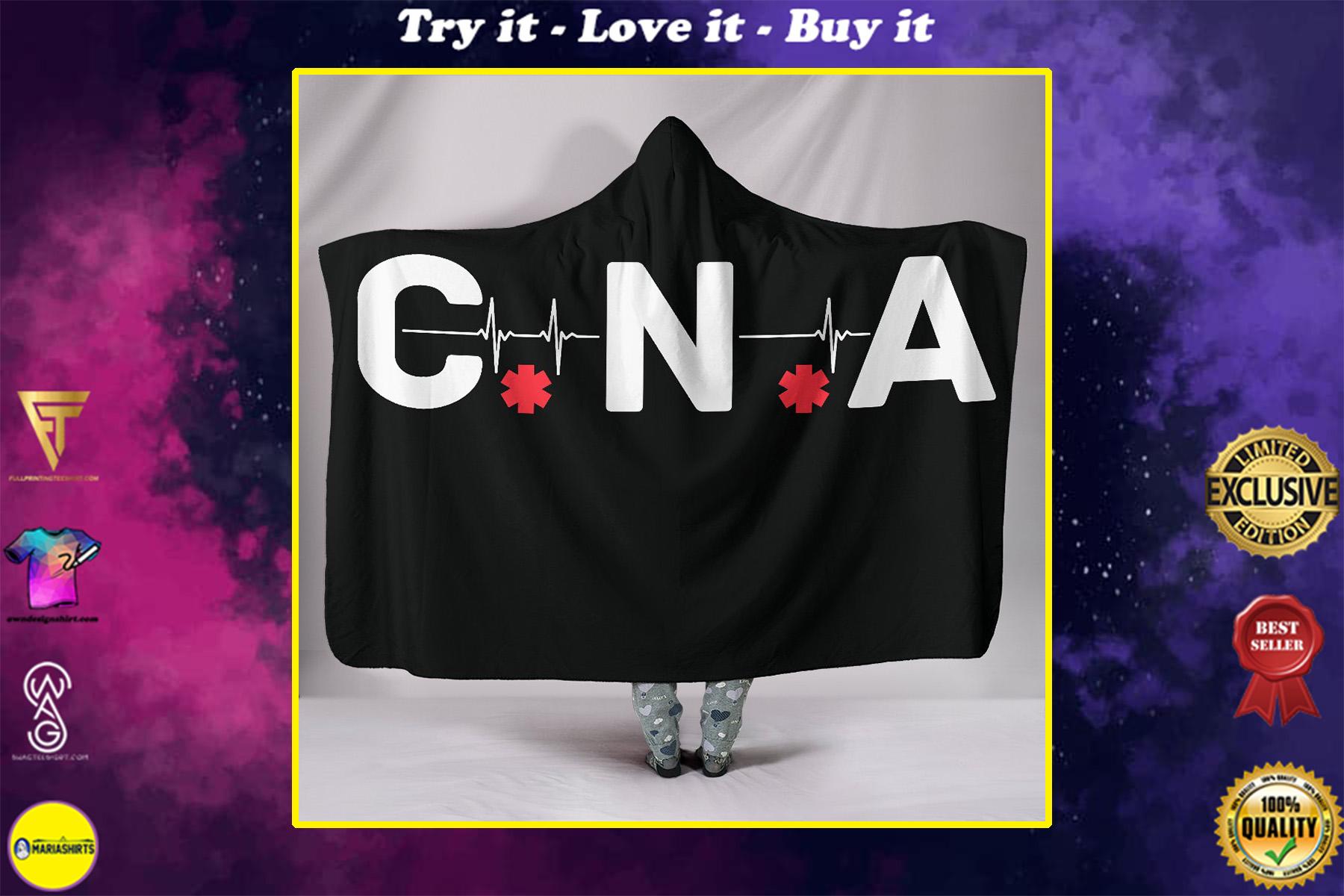canadian nurses association full printing hooded blanket
