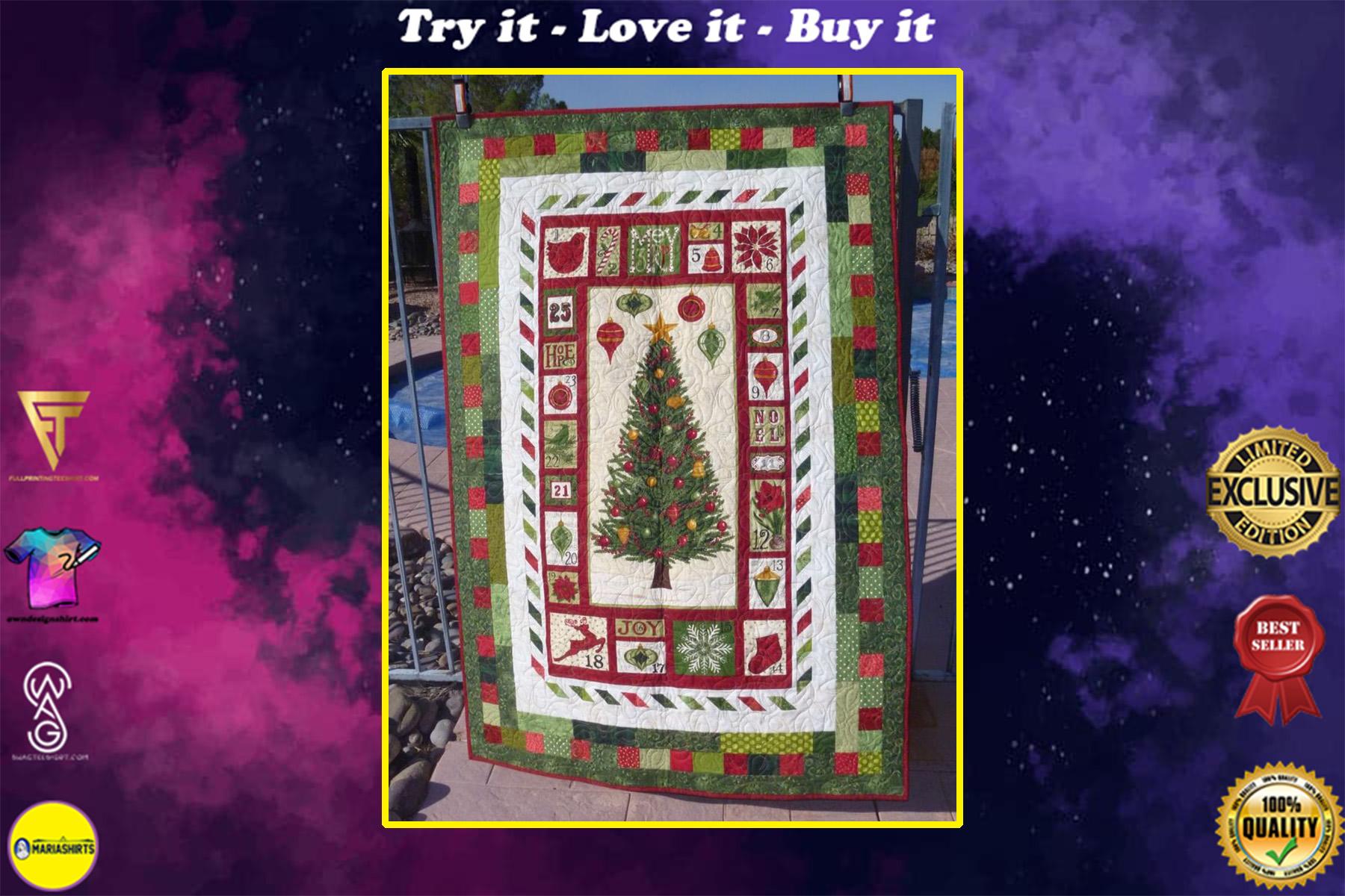 christmas tree farm full printing quilt