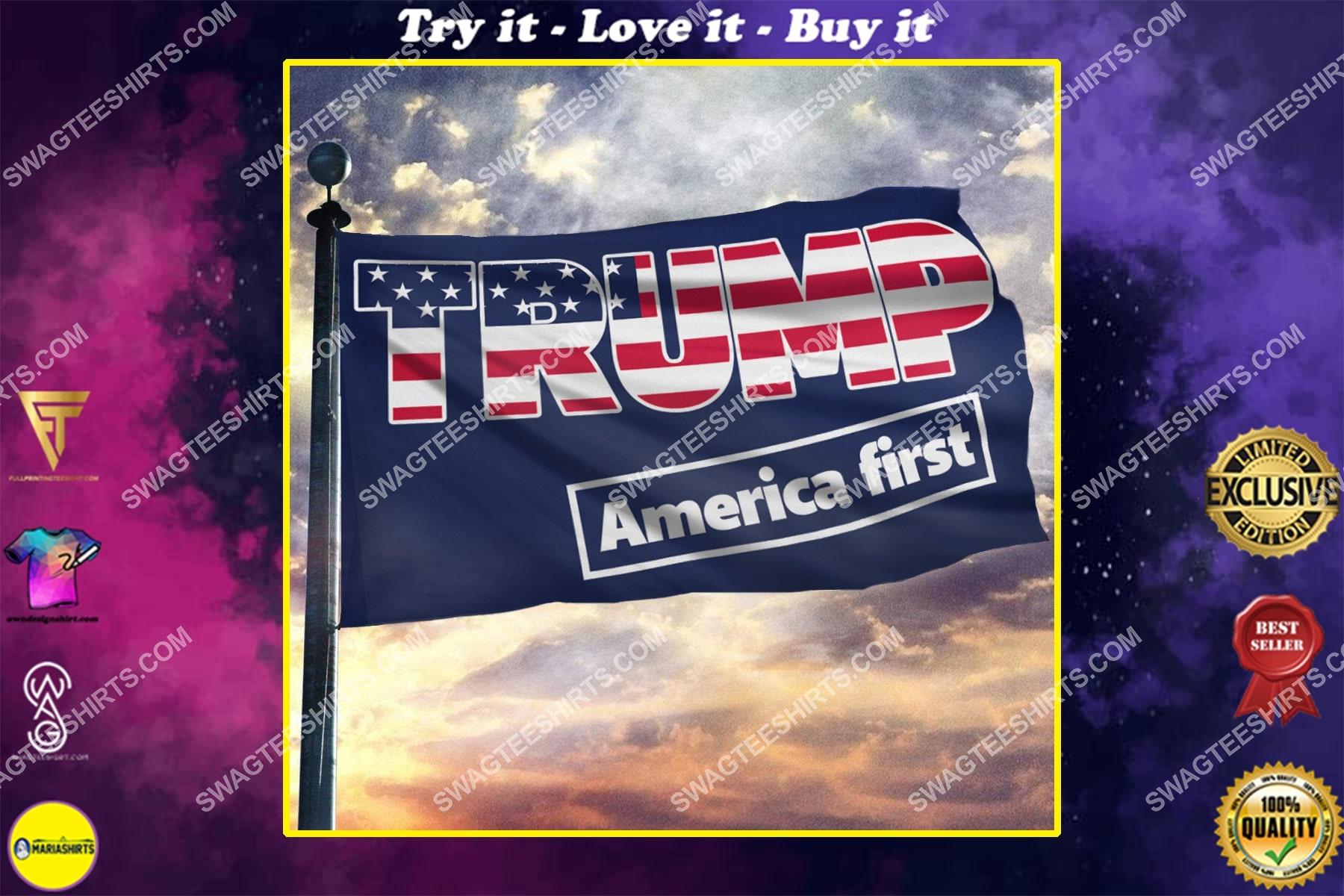 donald trump 2024 america first politics flag
