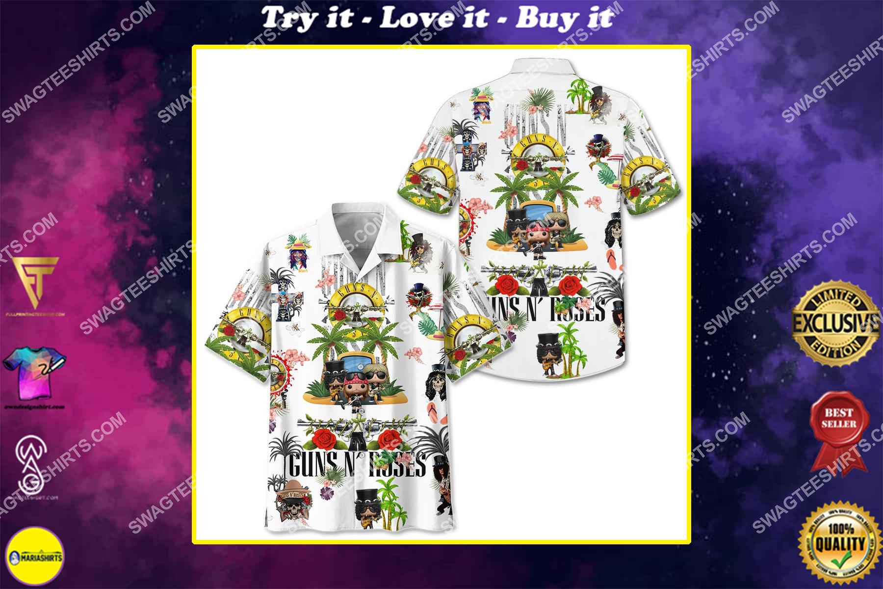 guns n' roses band full printing hawaiian shirt