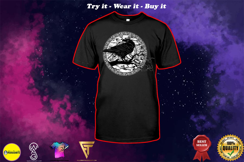 halloween evil raven viking shirt