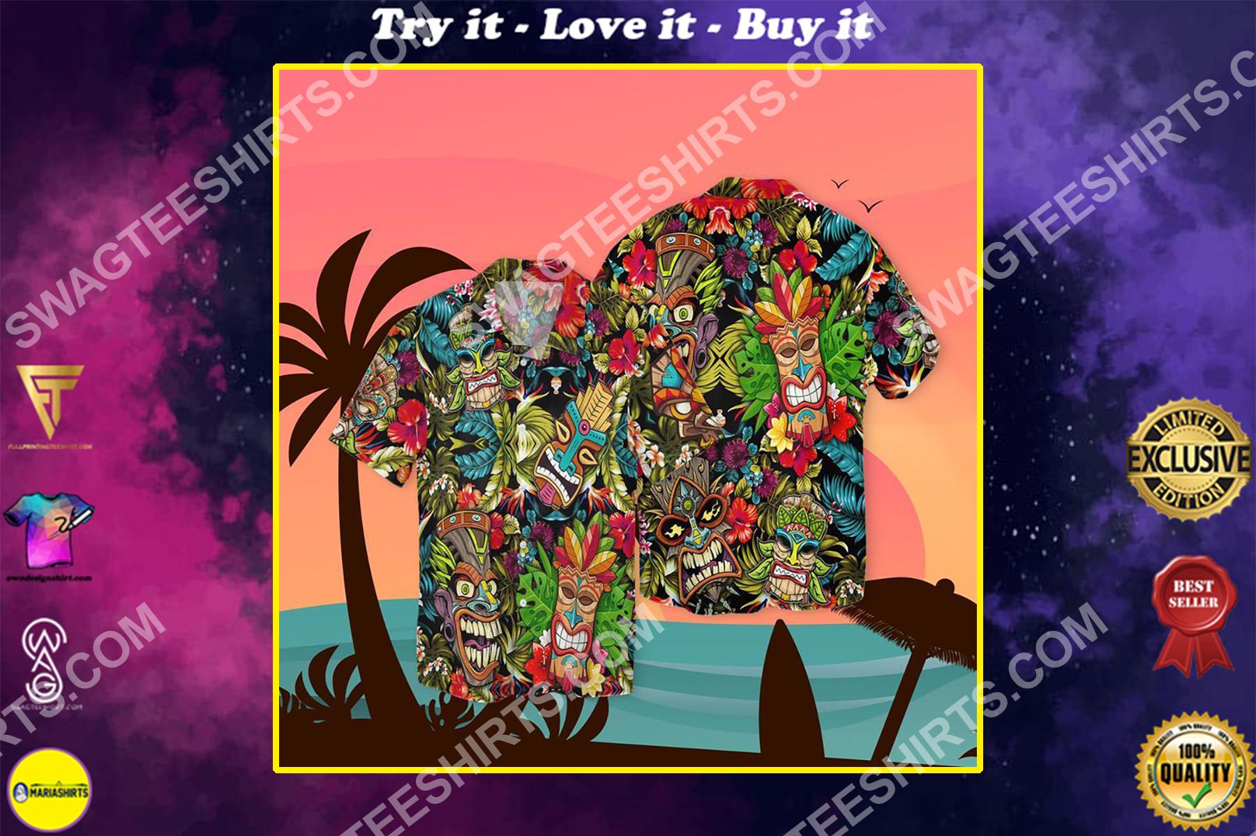 hawaii tropical all over printed hawaiian shirt