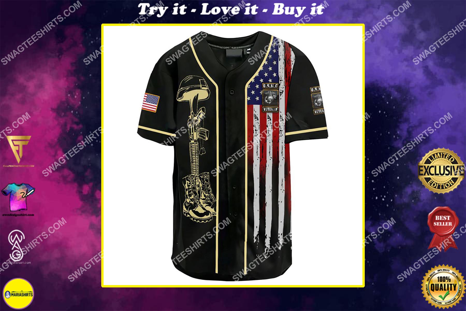 i am a grumpy old marine corps veteran i served i sacrificed i don't regret i am not a hero not a legend baseball shirt