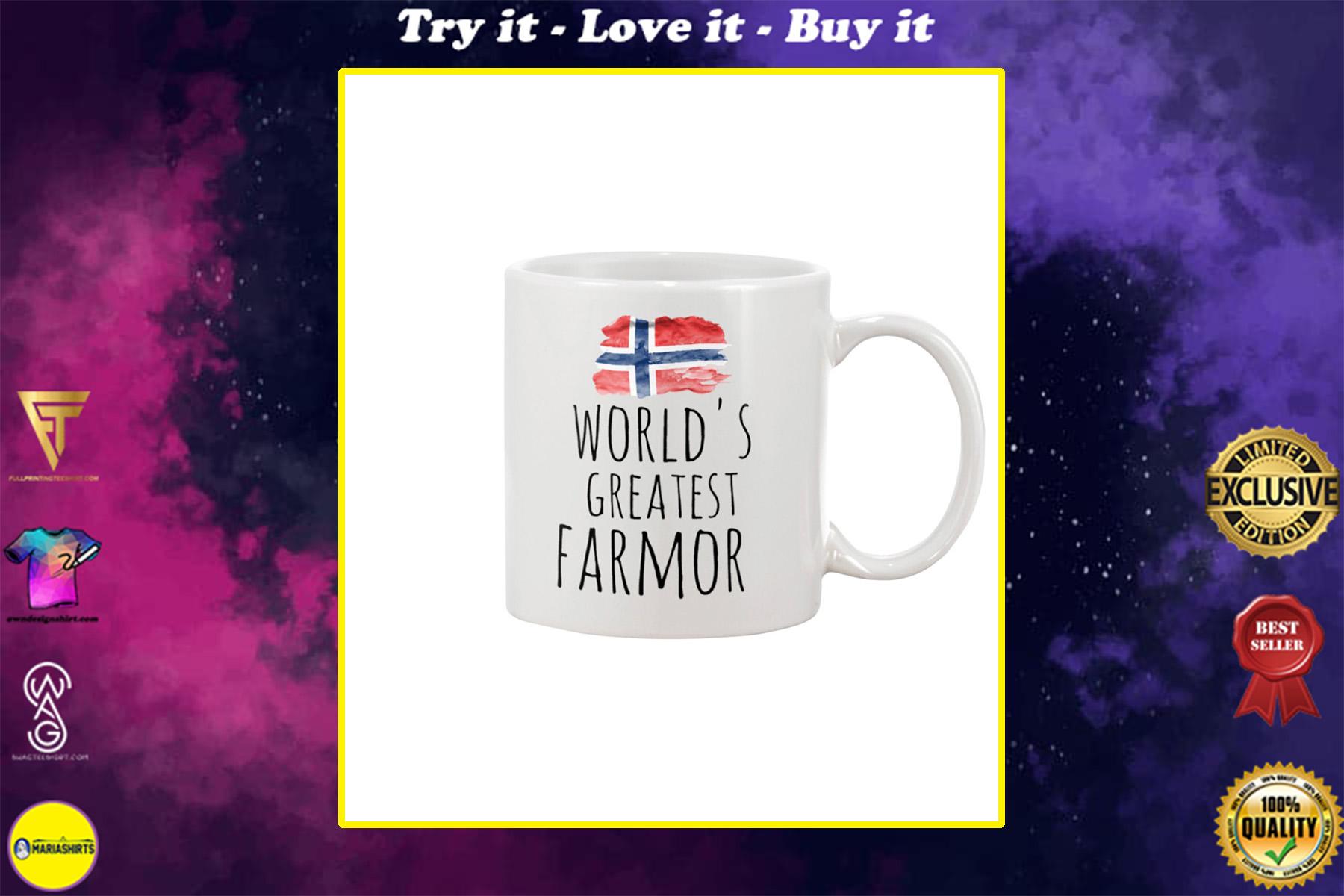 norwegian flag worlds greatest farmor mug