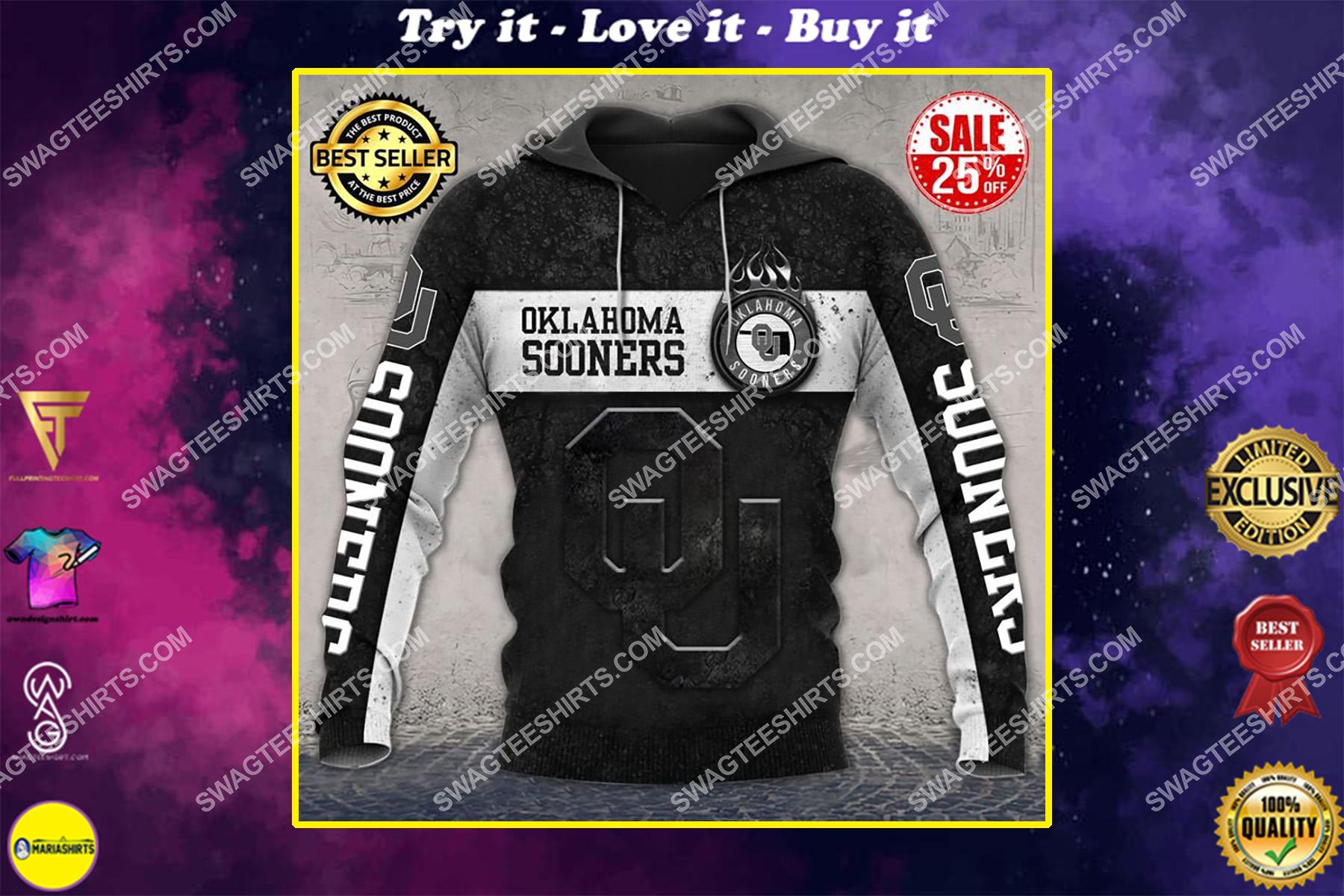 oklahoma sooners football team all over printed shirt