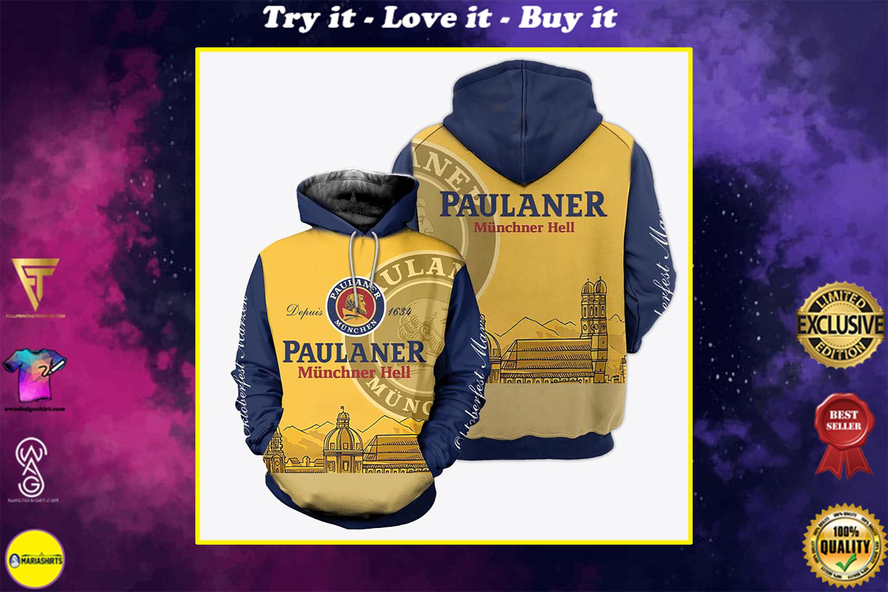 paulaner munich hell full over print shirt