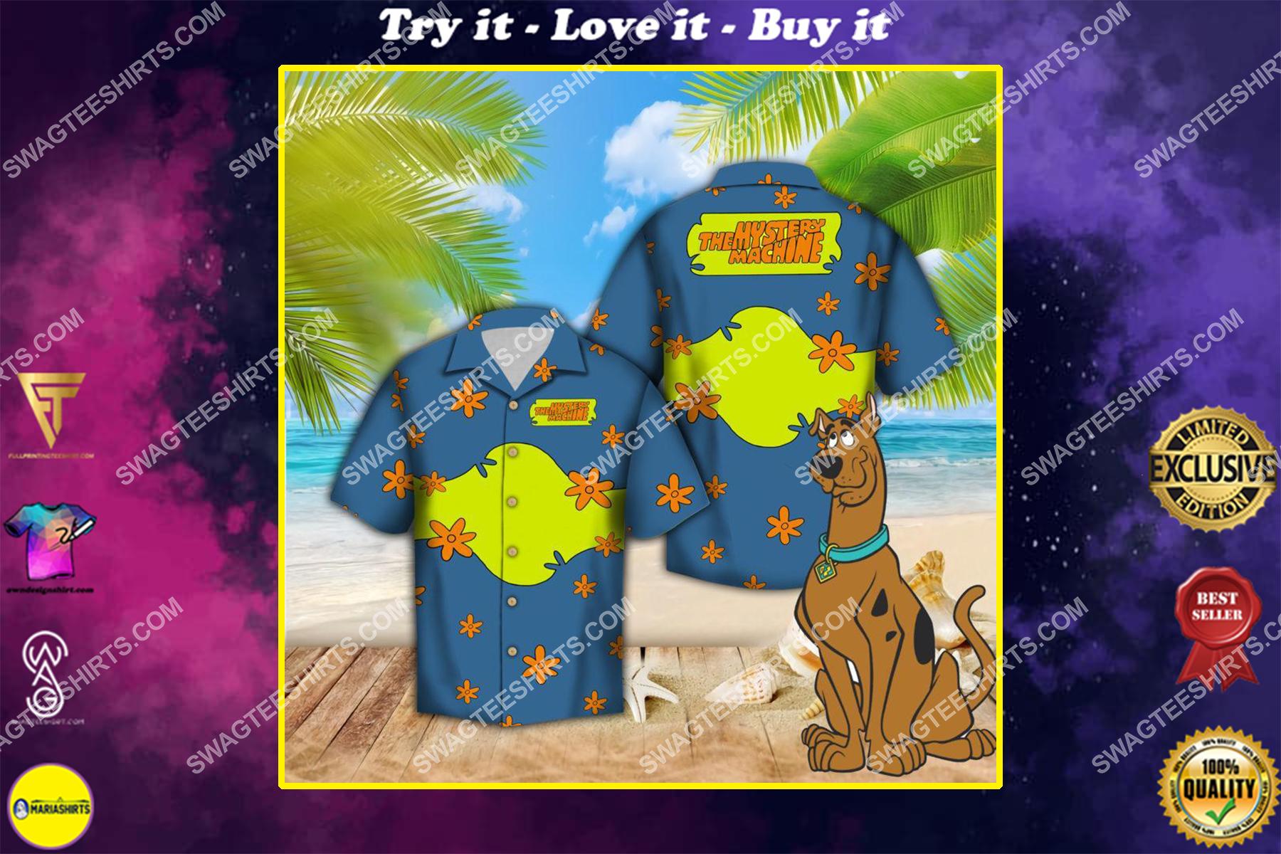 scooby doo the mystery machine all over print hawaiian shirt