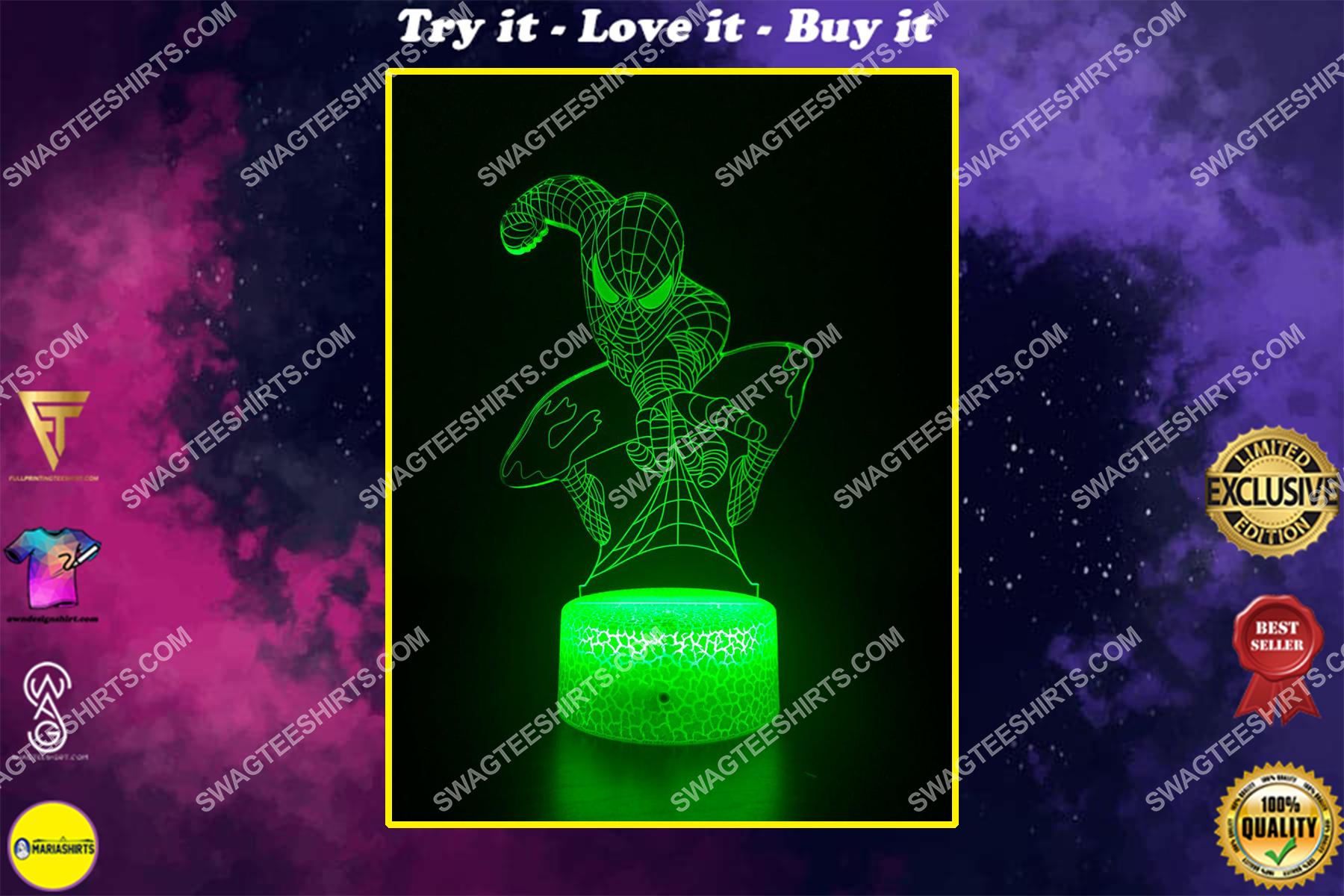 spider man marvel 3d night light led