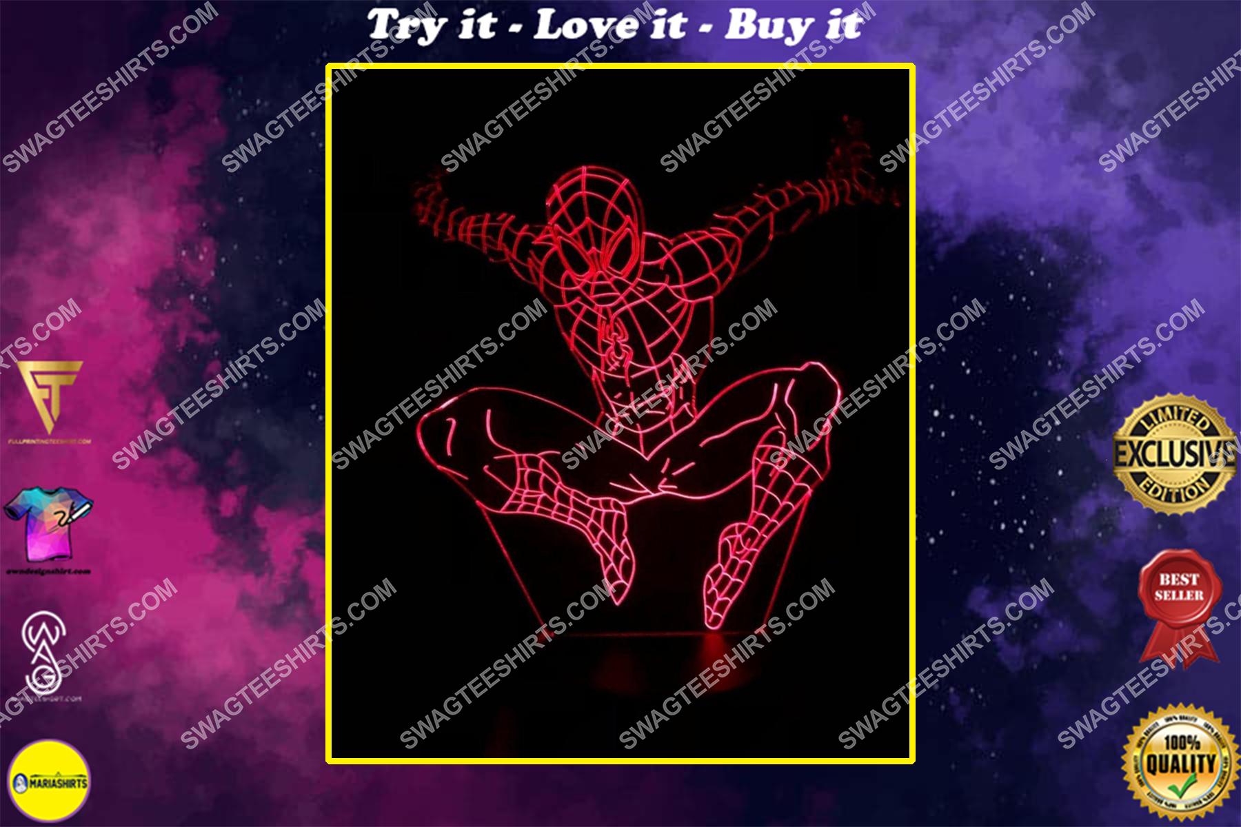 spiderman marvel movie 3d night light led
