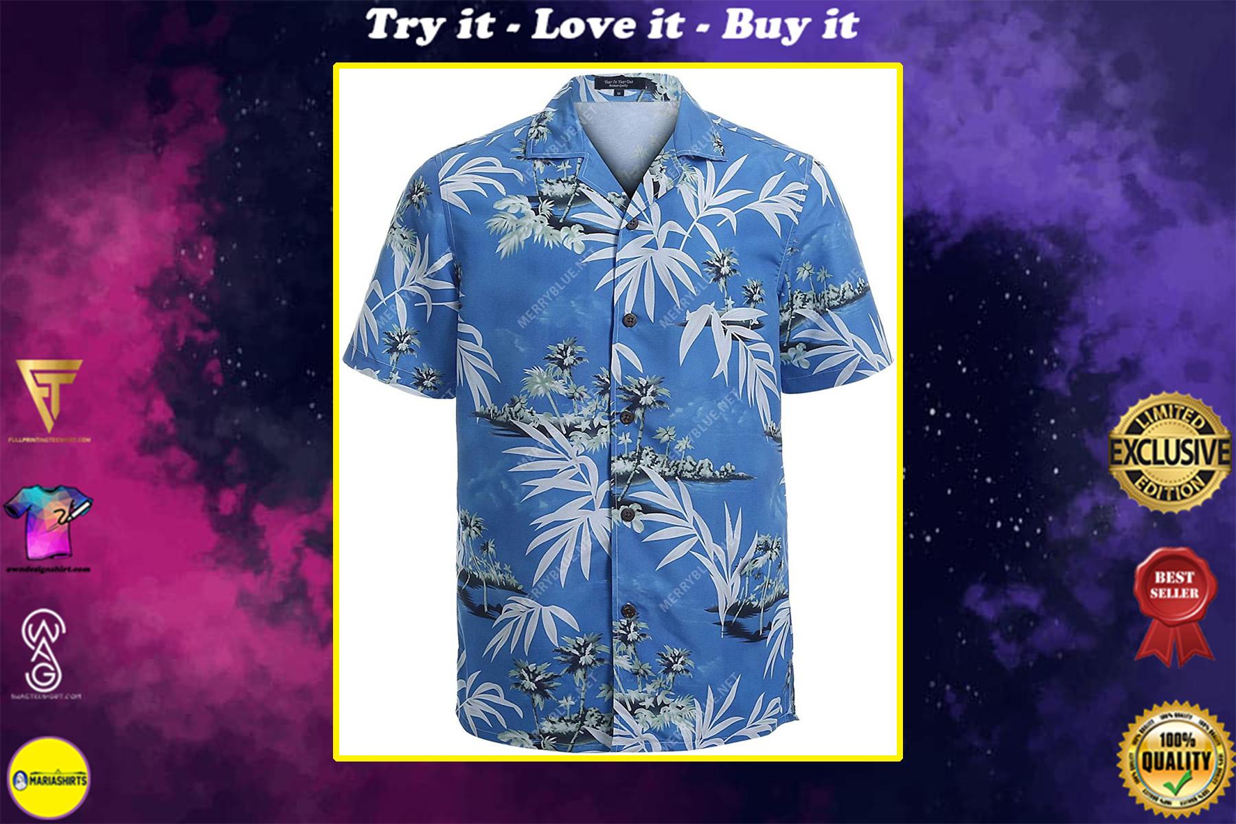 summer vibe tropical all over printed hawaiian shirt