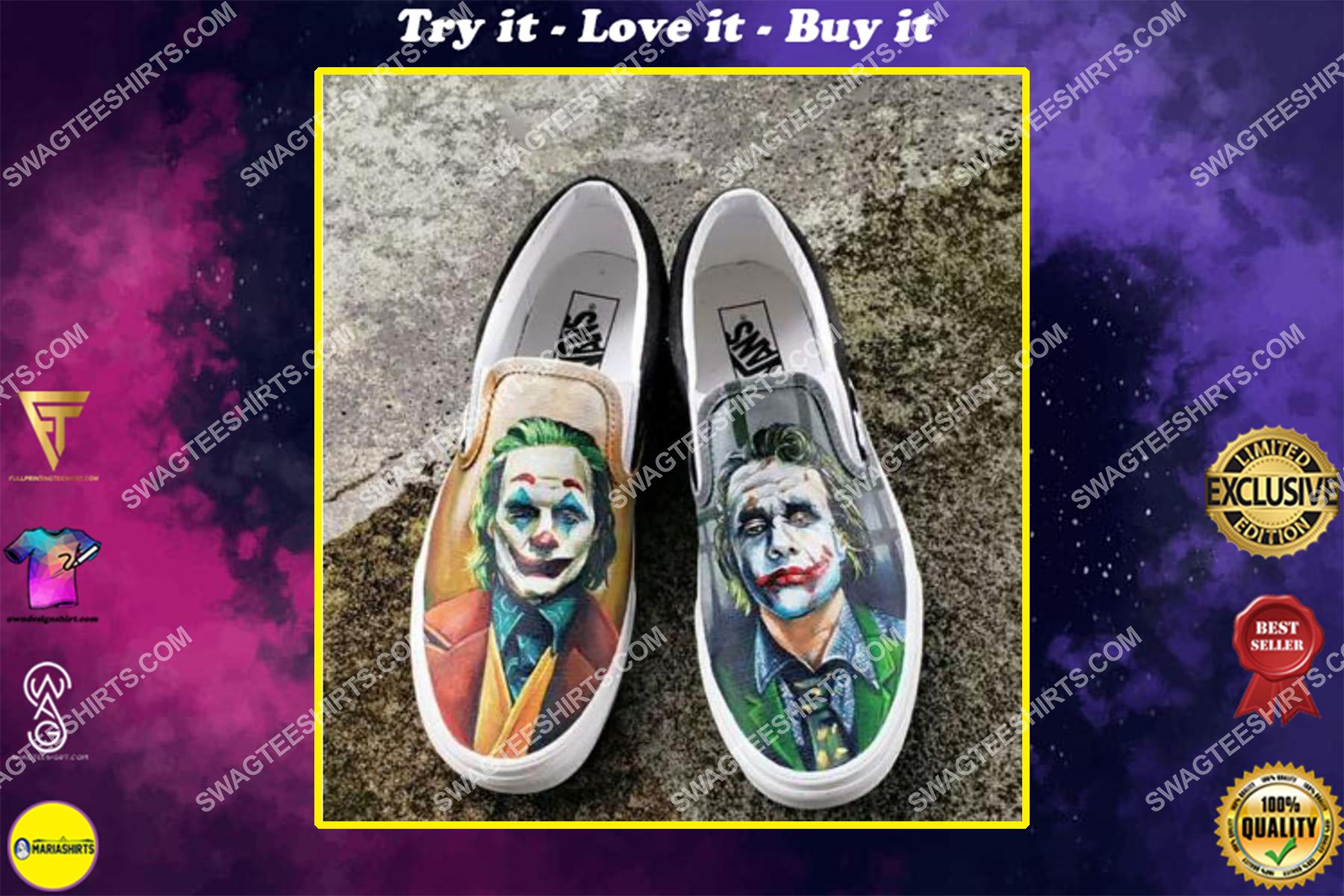 the joker movie all over print slip on shoes