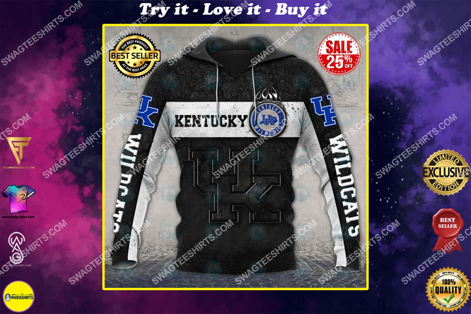 the kentucky wildcats football all over printed shirt