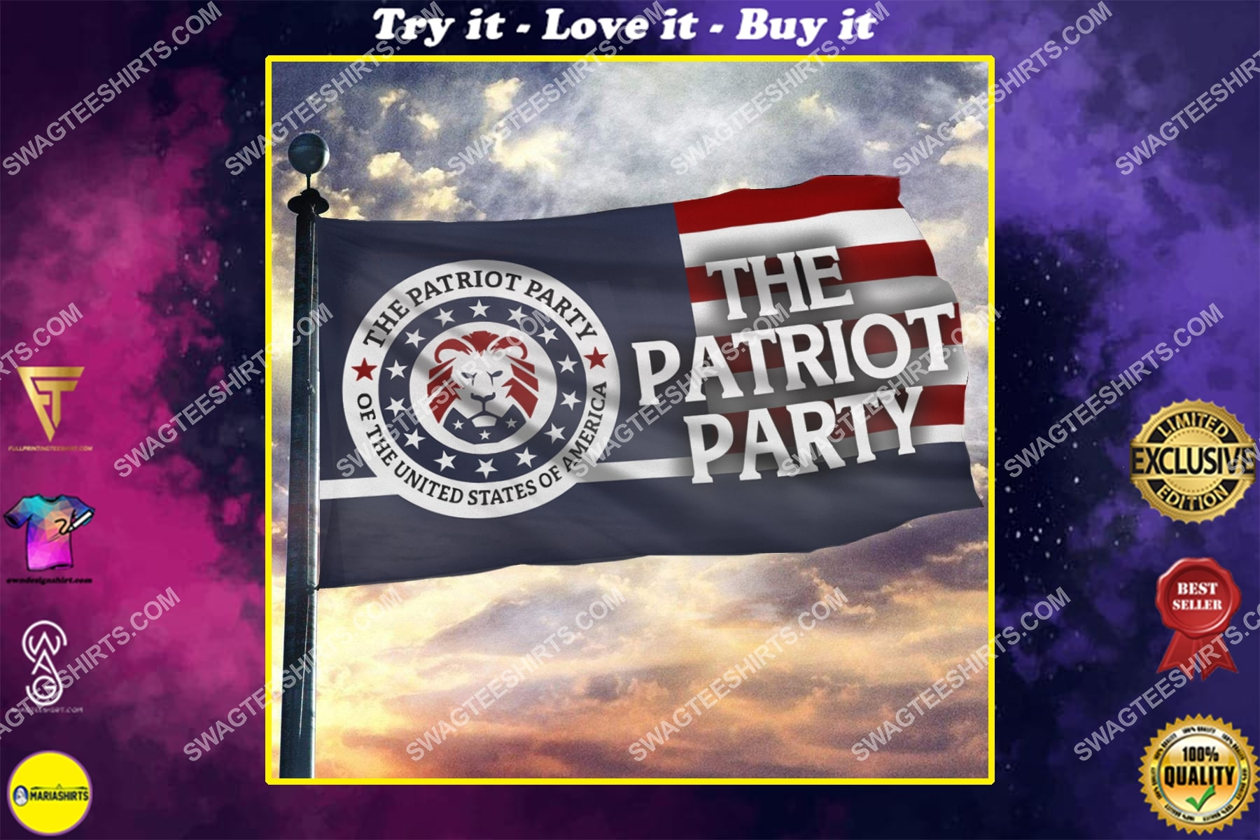 the patriot party of the united states of america politics flag