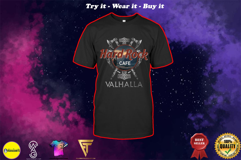 valhalla viking hard rock cafe shirt