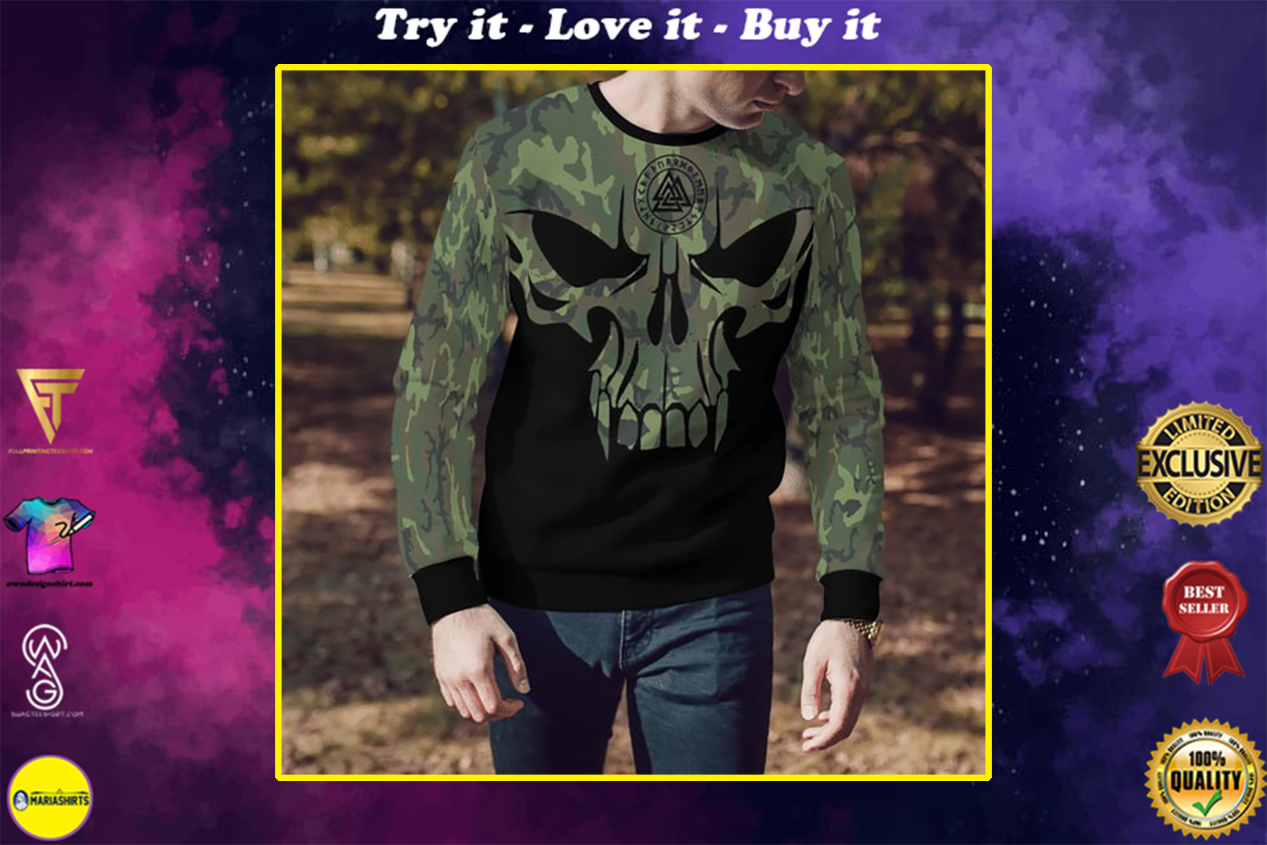 viking son of odin die in battle and go to valhalla all over printed shirt